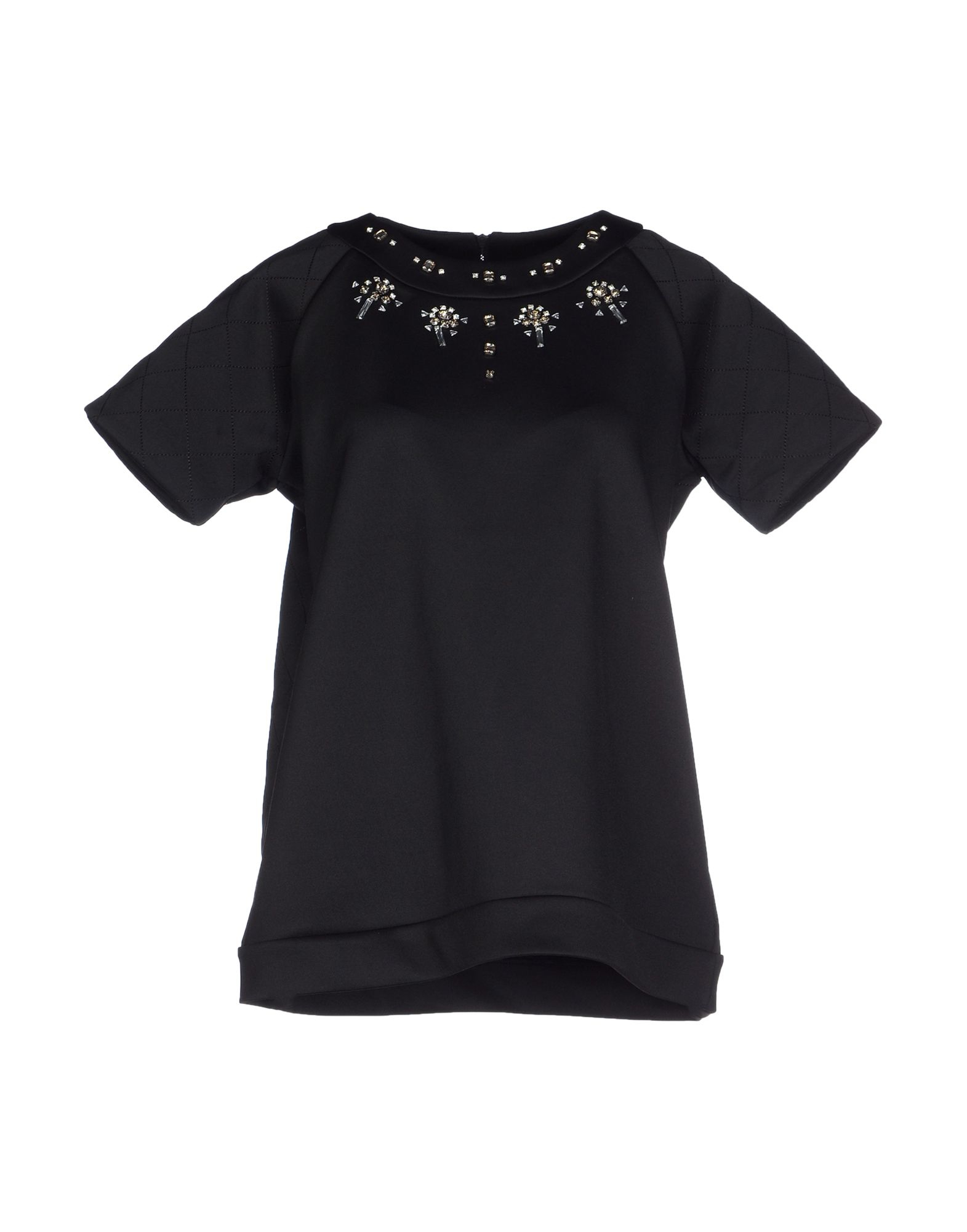 Lyst french connection t shirt in black for French connection t shirt dress