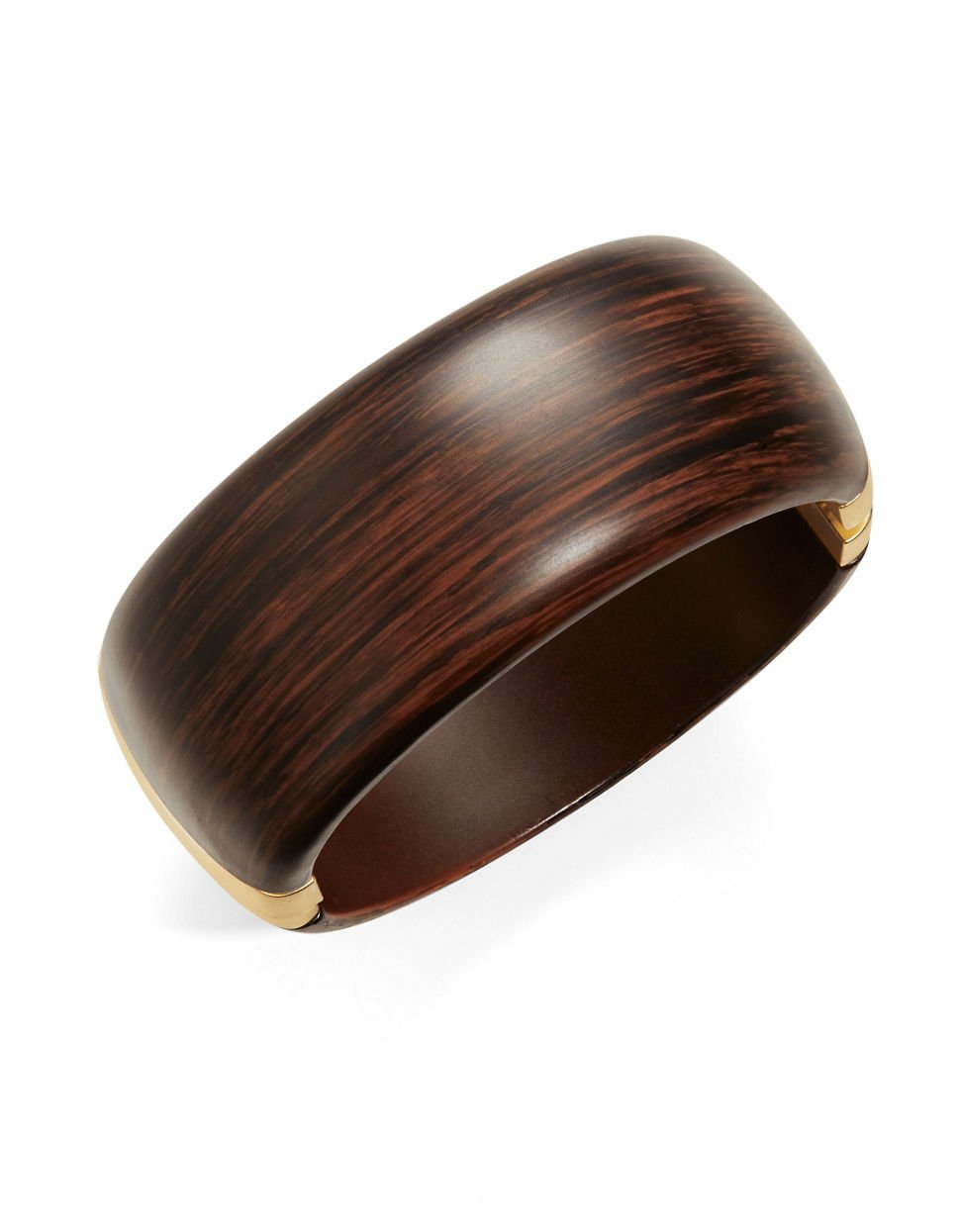 Kenneth Jay Lane Womens Wooden Bangle