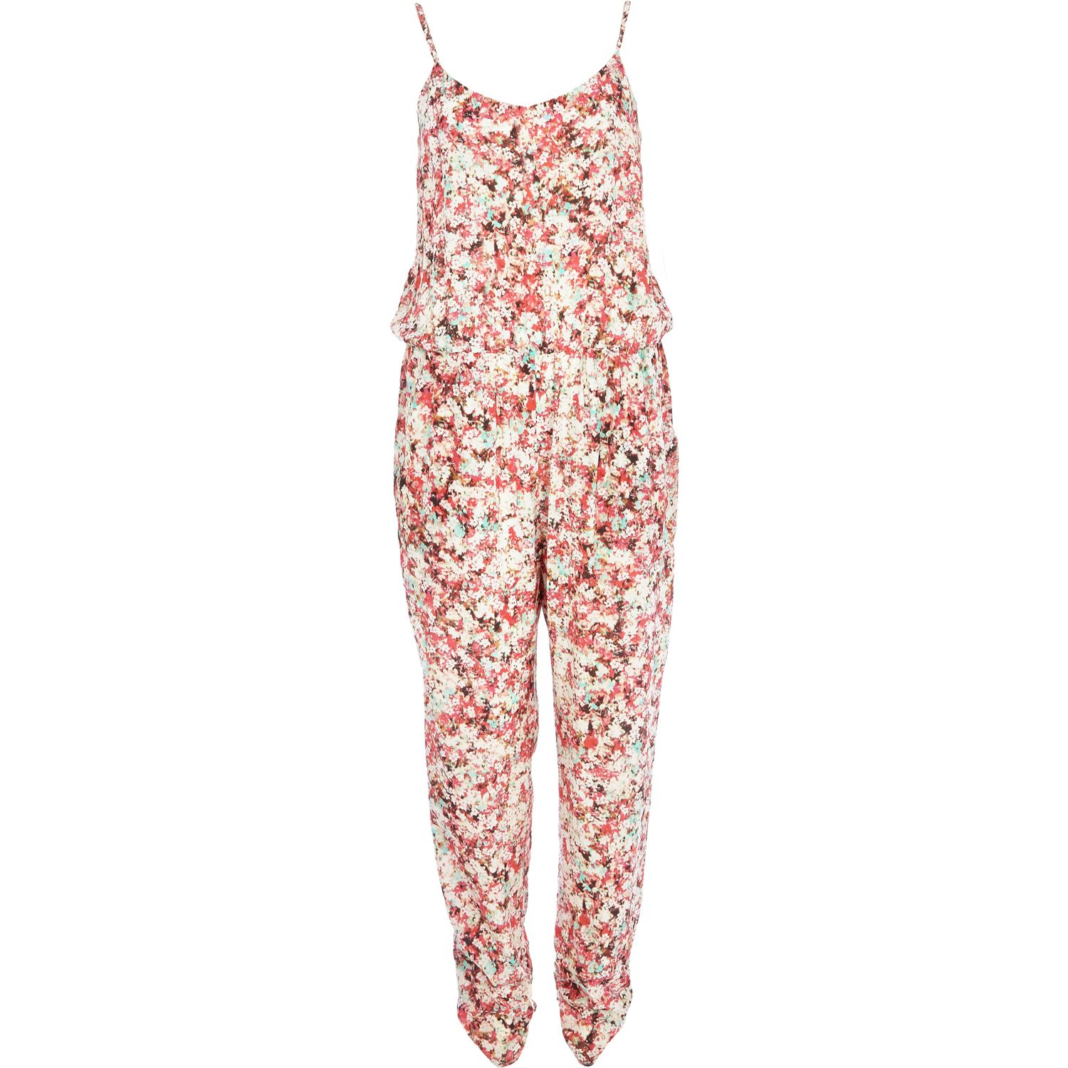 e07666efac1c River Island Pink Blurred Floral Print Cami Jumpsuit In Floral (pink)