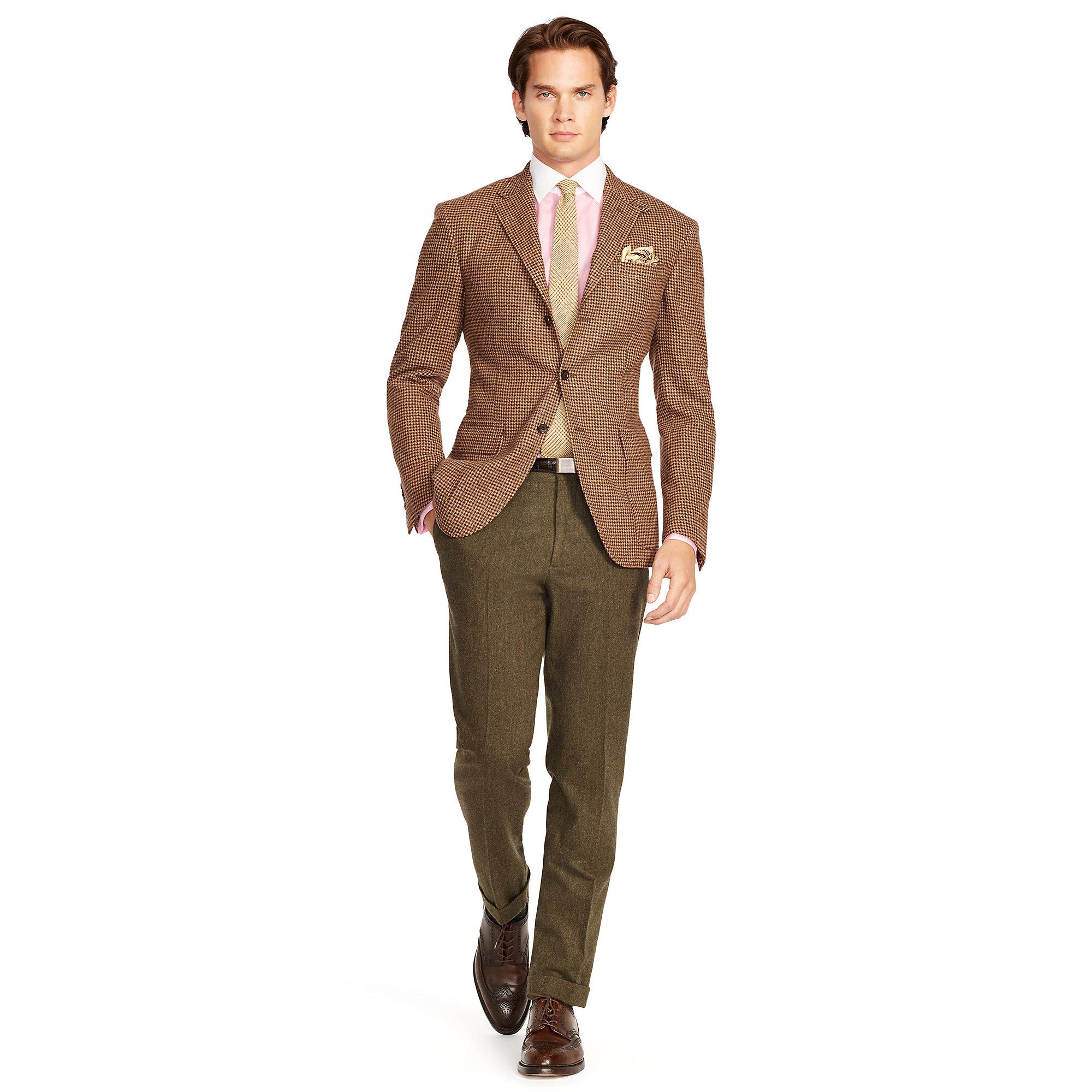 0c2dc6164a9 Lyst - Polo Ralph Lauren Slim-fit Herringbone Trouser in Brown for Men