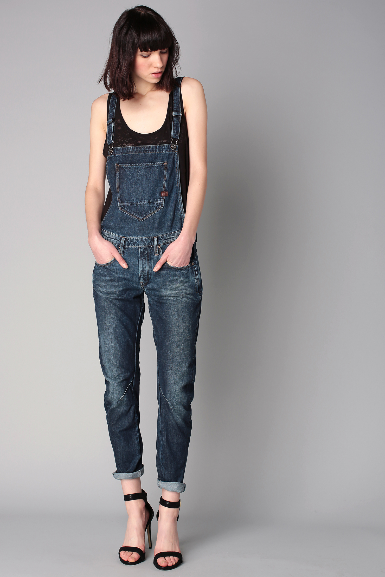 g star raw dungarees in blue lyst. Black Bedroom Furniture Sets. Home Design Ideas