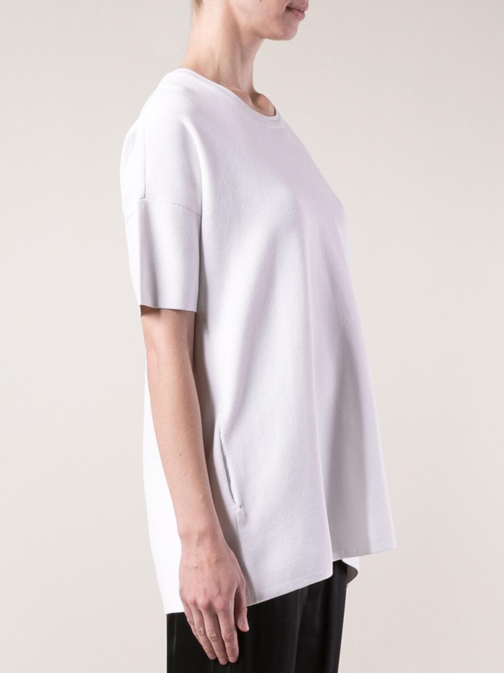 Lyst rag bone clara tshirt in white for Rag and bone white t shirt