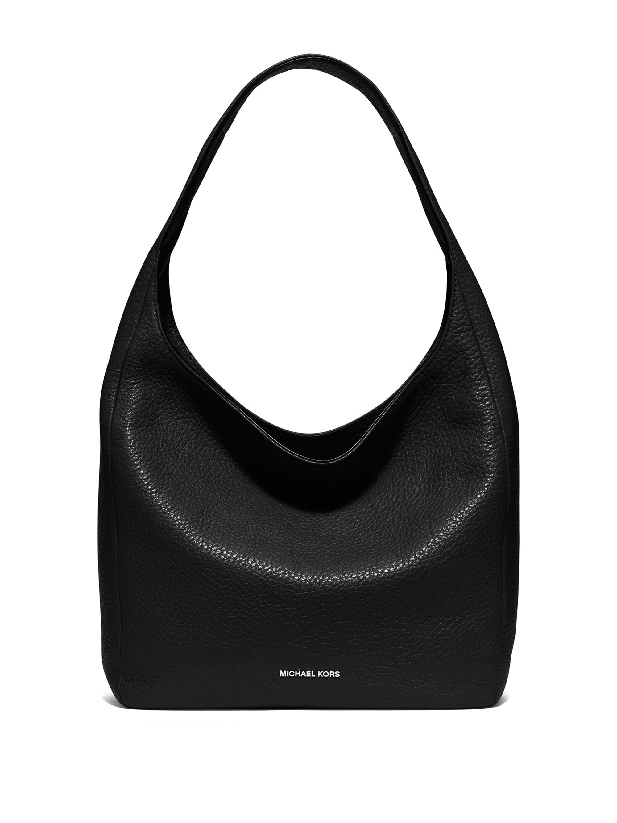 michael michael kors lena large leather hobo bag in black lyst. Black Bedroom Furniture Sets. Home Design Ideas