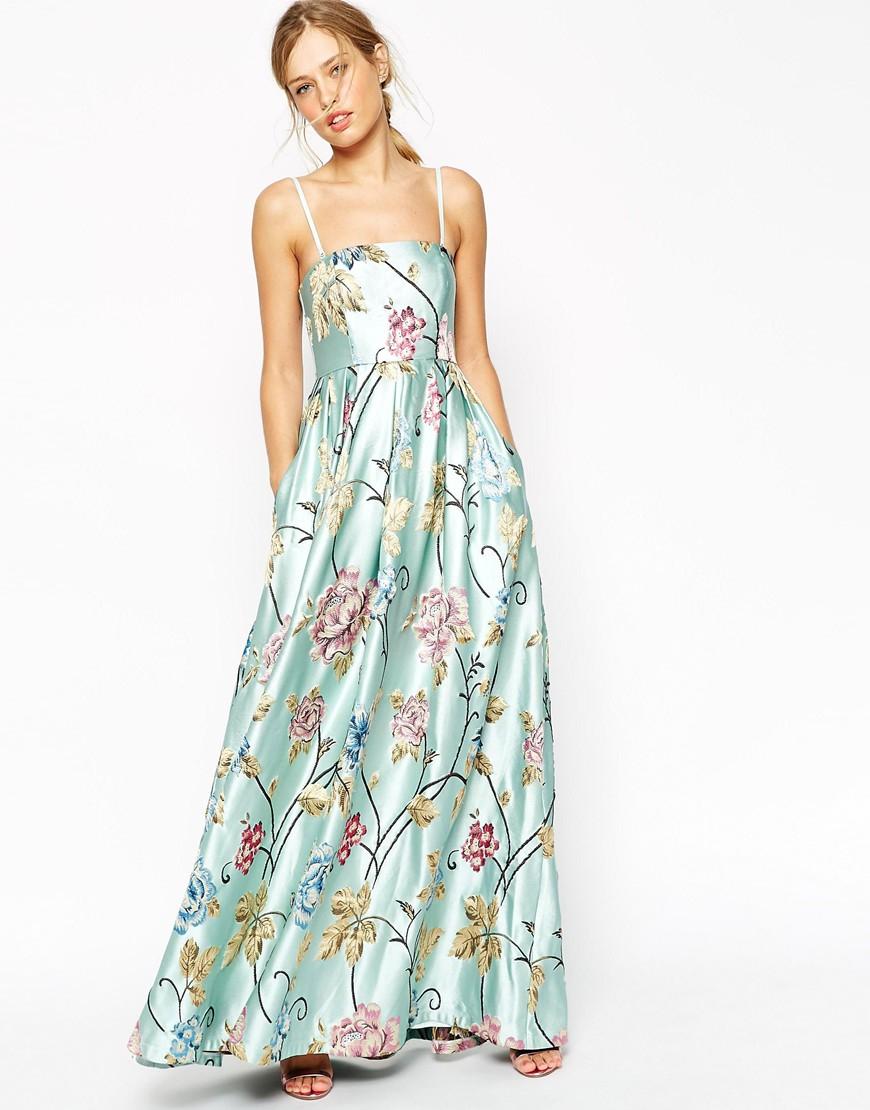 Lyst Asos Salon Premium Beautiful Floral Jacquard