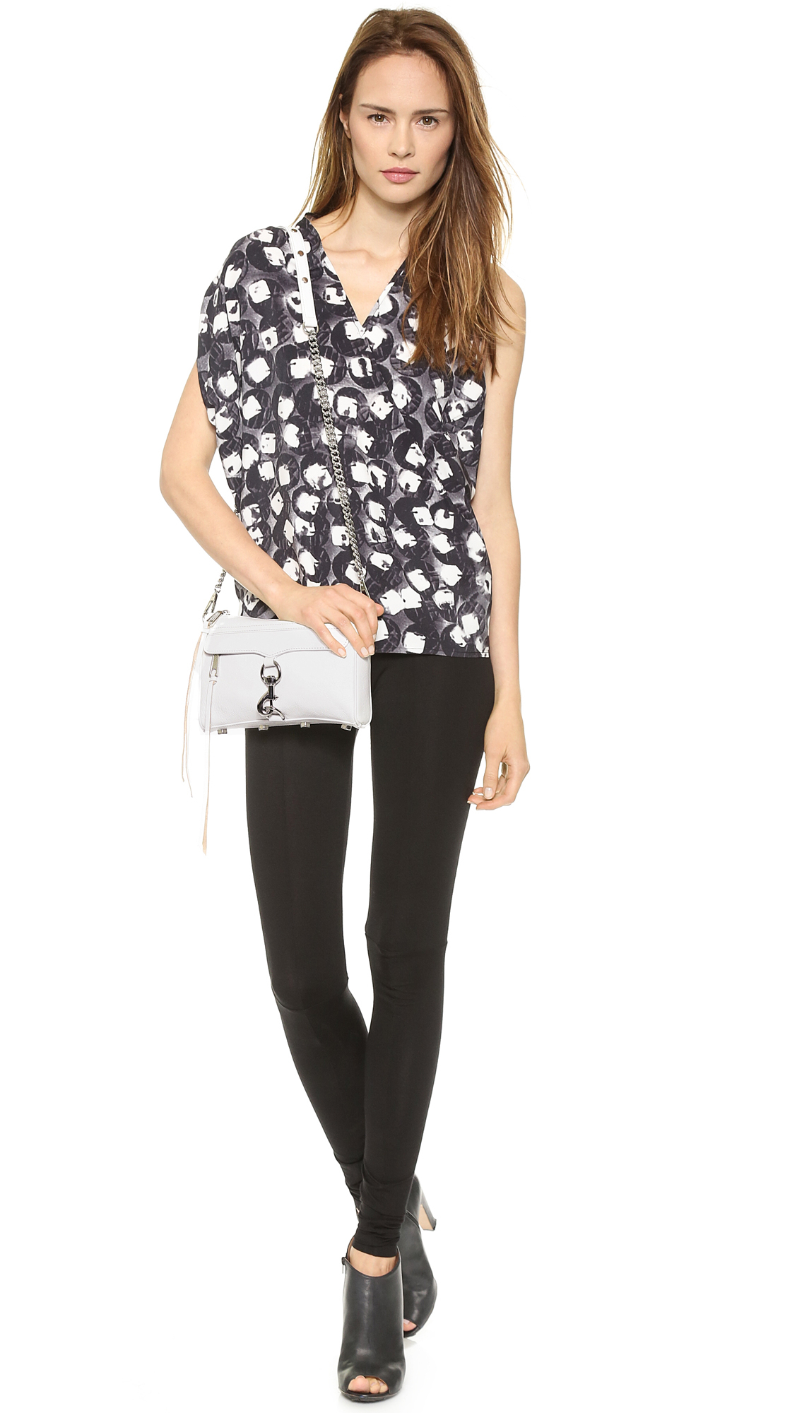 Rebecca Minkoff Mini Mac Cross Body Bag White In White