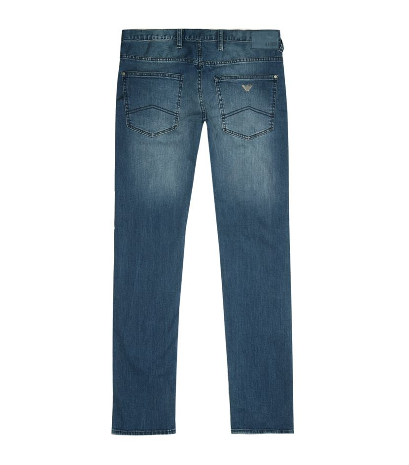 armani jeans extra slim fit jeans in blue for men lyst. Black Bedroom Furniture Sets. Home Design Ideas