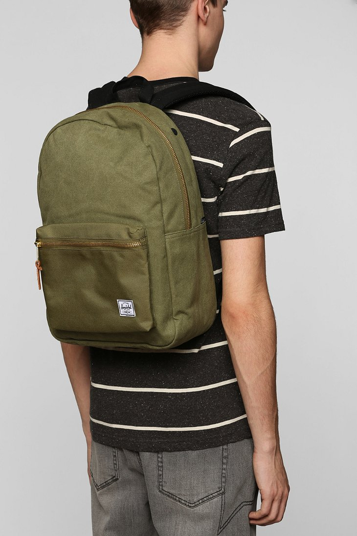 Lyst - Herschel Supply Co. Settlement Cotton Canvas Backpack in ... 70ed1af0f160f