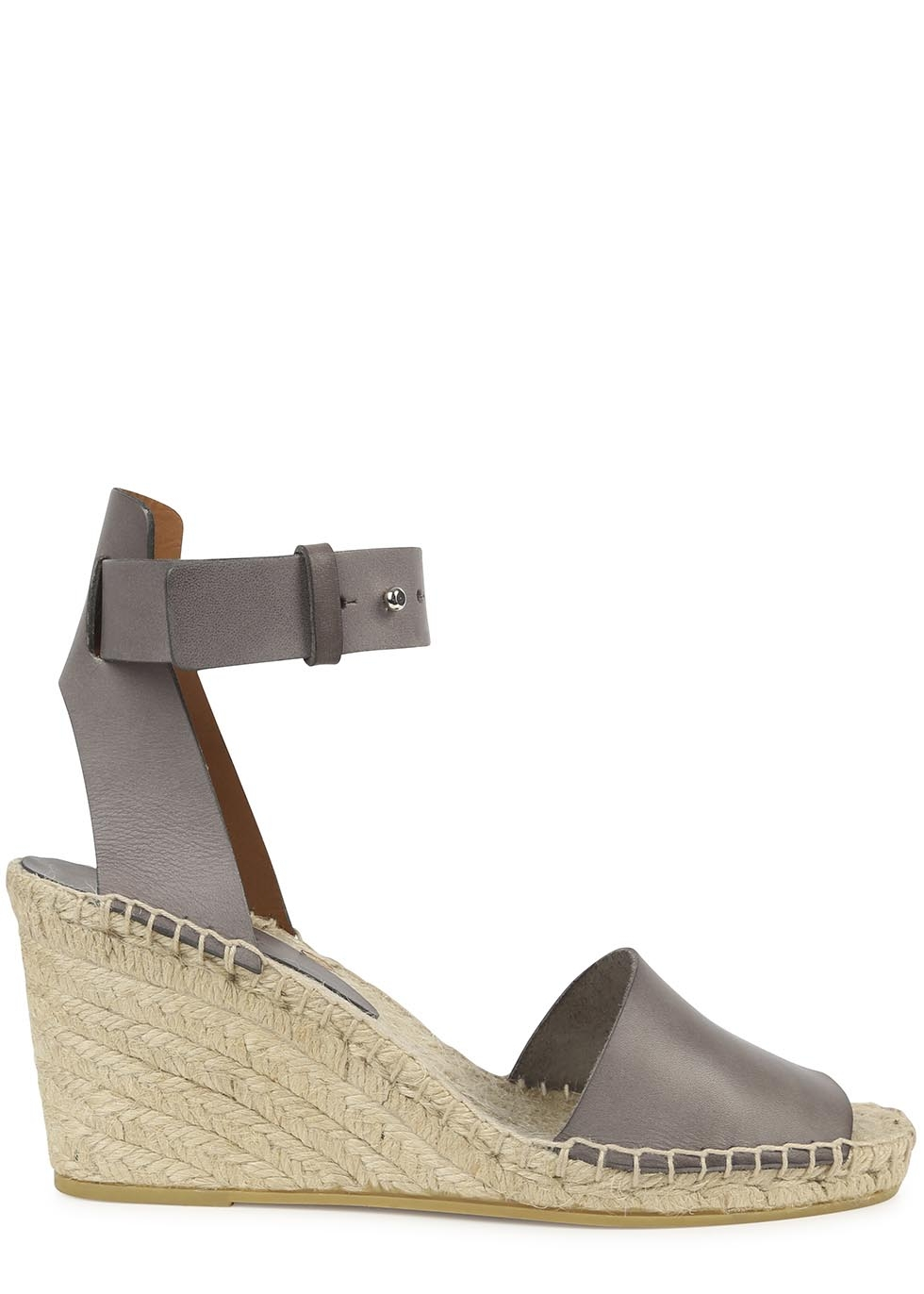 4ab851bc9de Vince Simona Grey Espadrille Wedge Sandals in Gray - Lyst