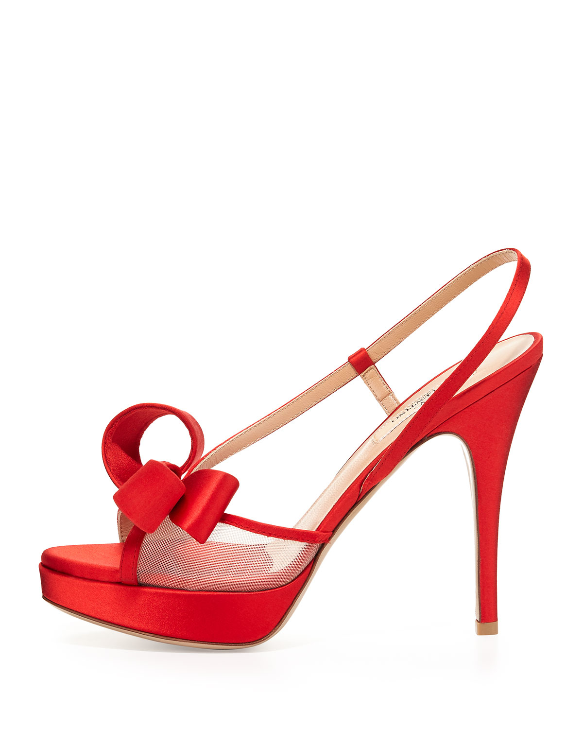 clearance amazon Valentino Bow Slingback Sandals cheap real eastbay sale clearance store buy cheap buy Xurwb