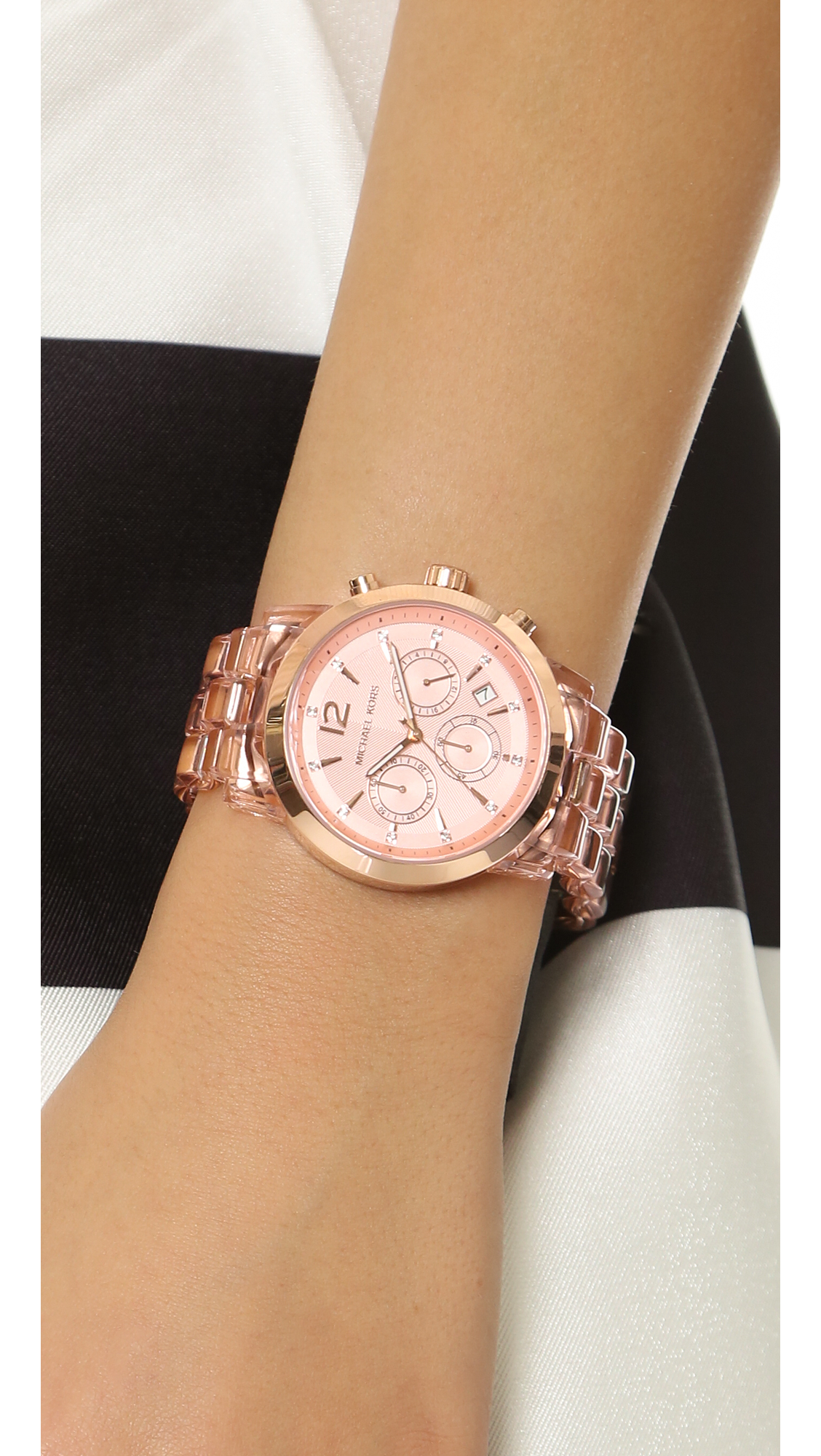 4af23a080 Michael Kors Audrina Watch - Rose Gold in Pink - Lyst