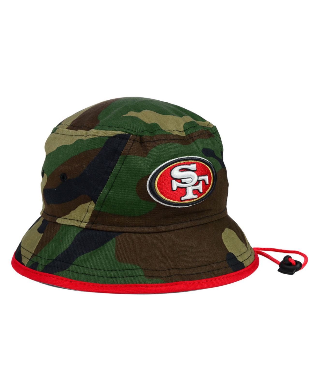 e15416f3 low cost lyst ktz san francisco 49ers camo pop bucket hat in green for men  38cbe