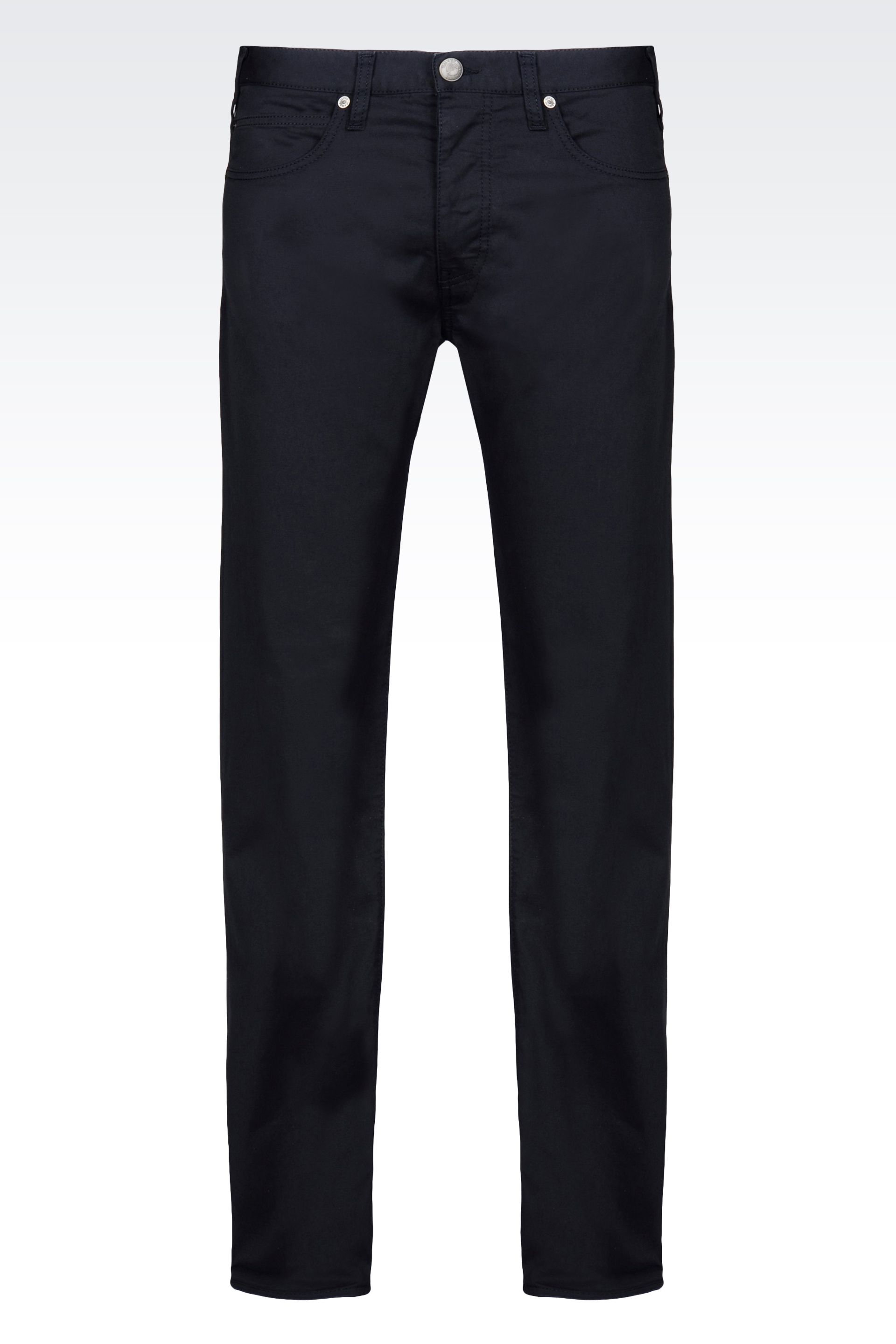 Lyst Armani Jeans 5 Pocket Trousers In Stretch Cotton