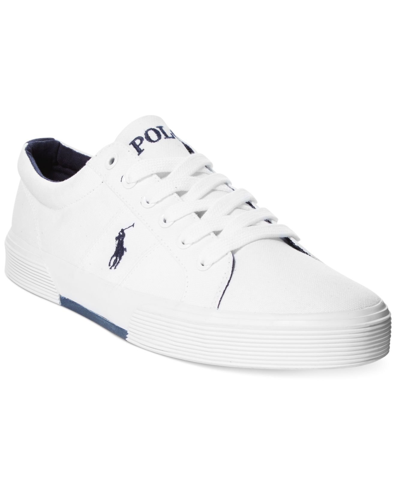 26d8fdf1dbeb8 Felix Lauren White Lyst Men Canvas For Sneakers In Polo Ralph 0pqwxHwEt