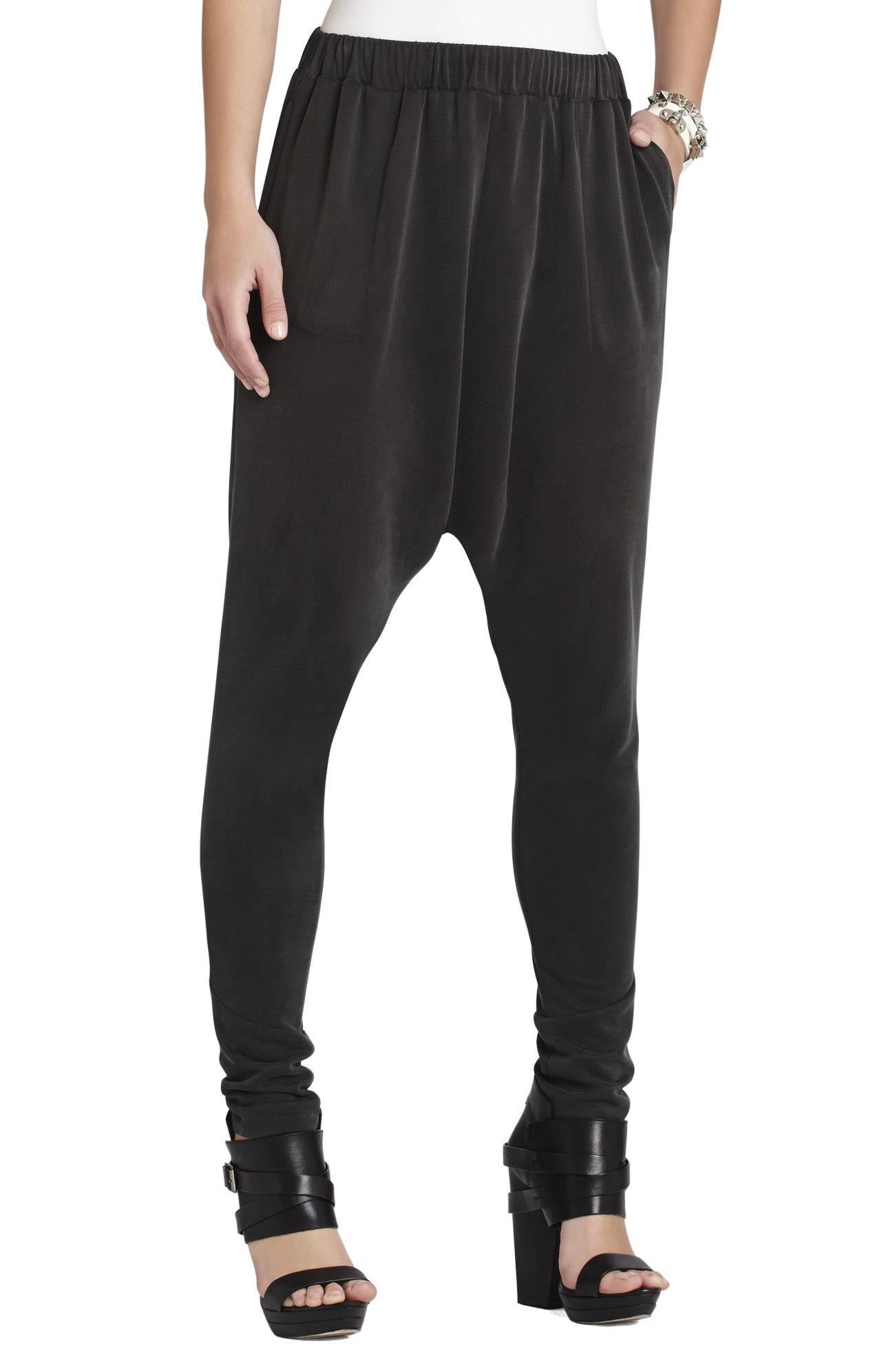 Bcbgmaxazria Kendell Harem Pant In Black Vintage Black