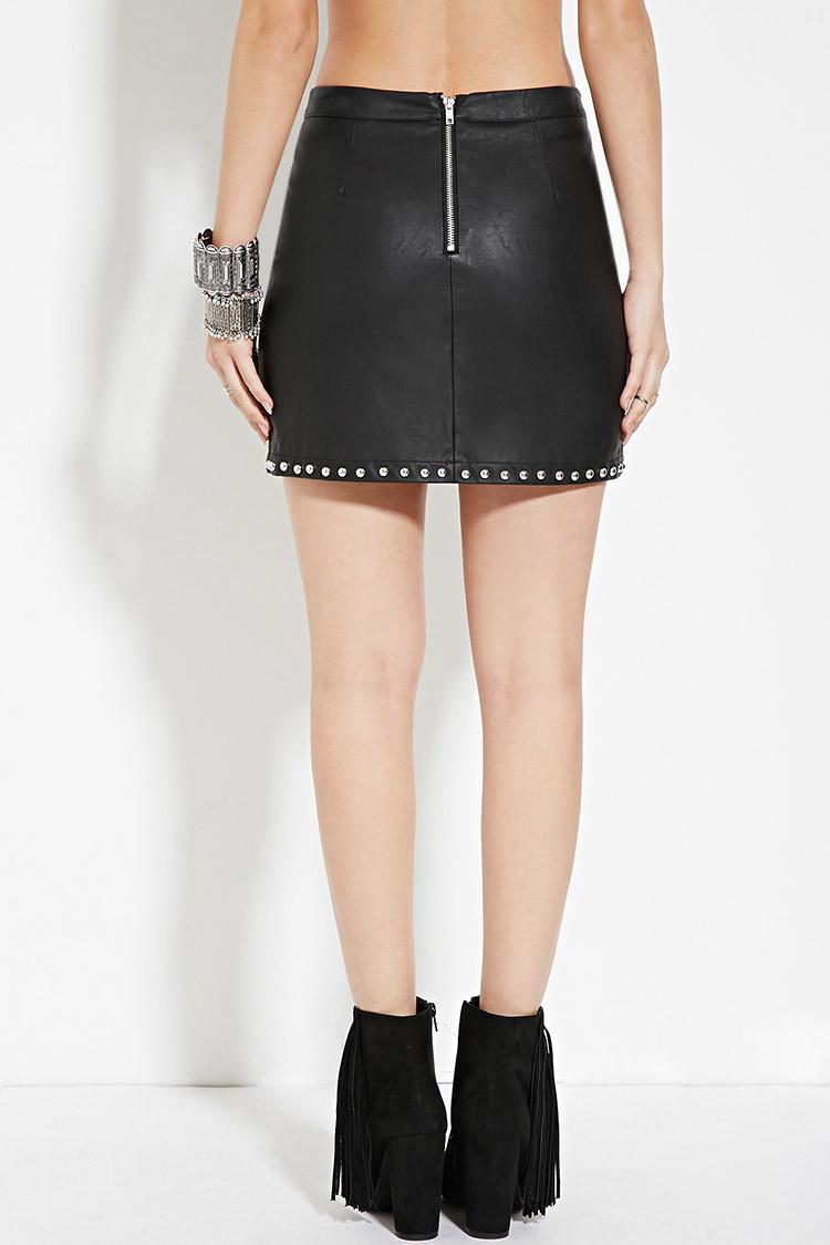 36f843c5 Faux Leather Mini Skirt Zara - raveitsafe