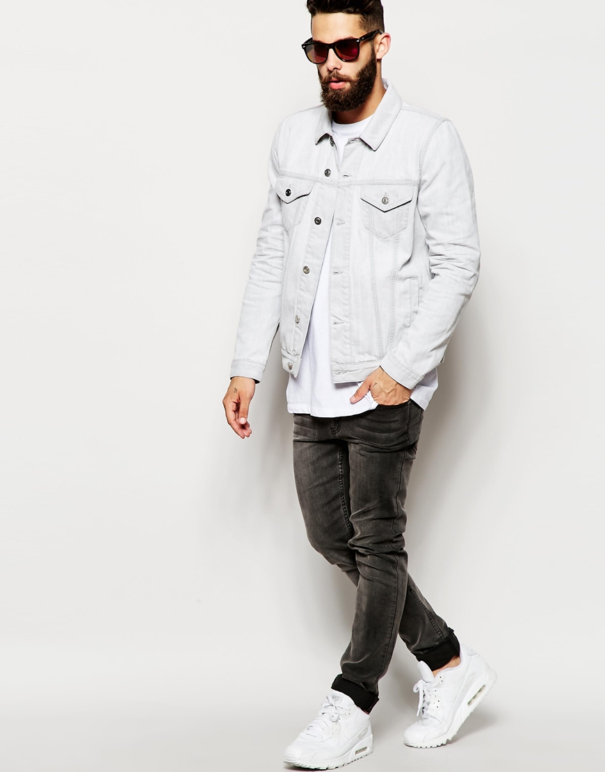 White Jean Jacket For Men - My Jacket