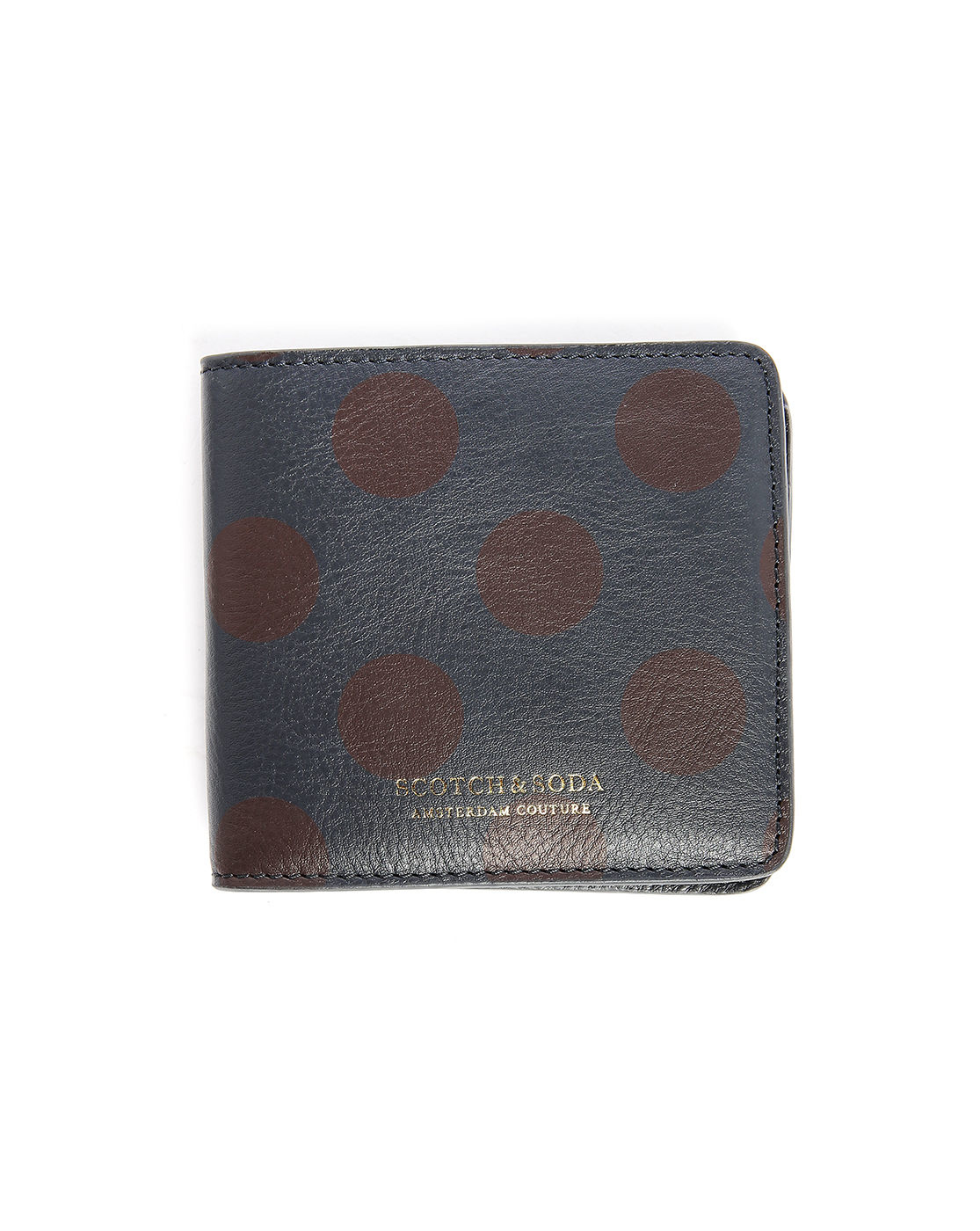 scotch soda navy dots leather zipped coin wallet in. Black Bedroom Furniture Sets. Home Design Ideas