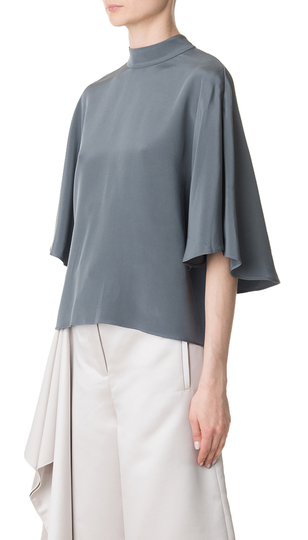 Cape sleeve. Double tie front. Iron on reverse. Cropped length. % Polyester. NOW ONLY £ | eBay!