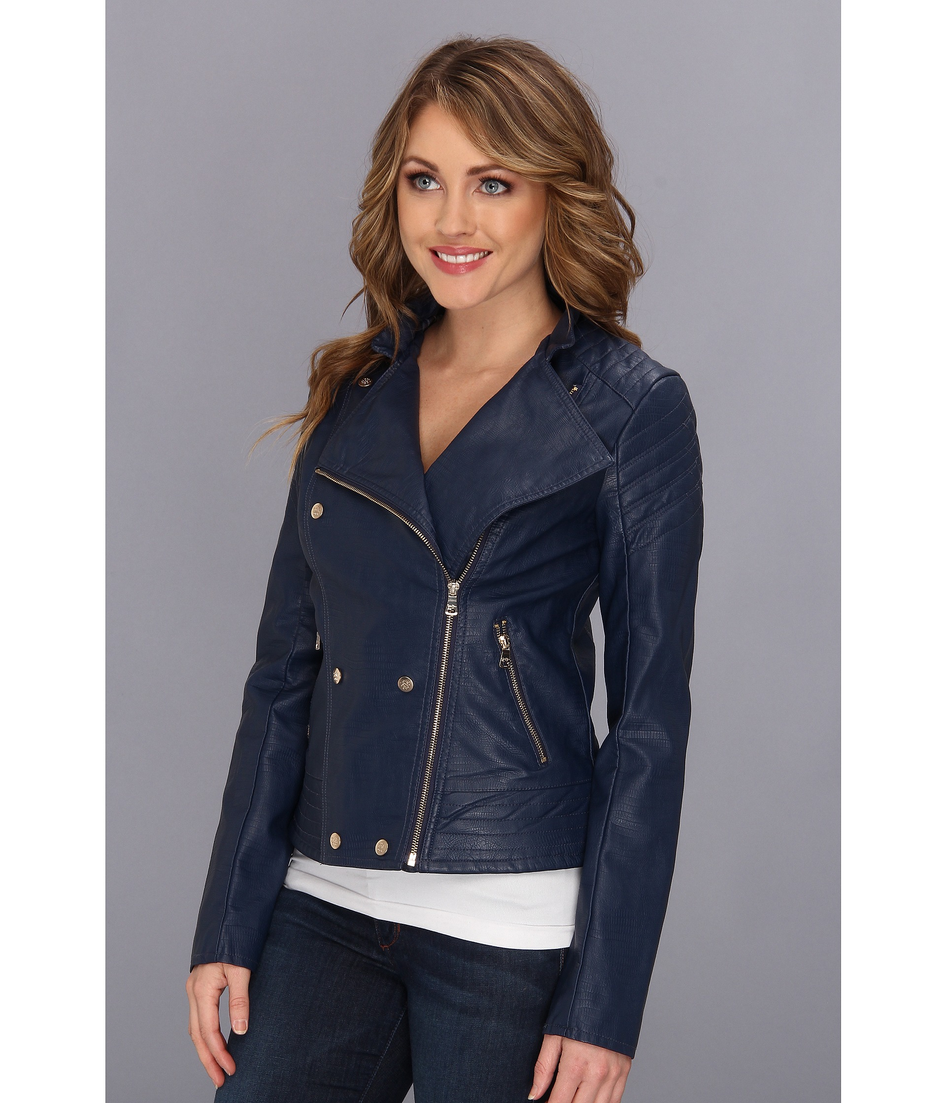 pinterest colin quilted guess jacket quilt faux leather pin