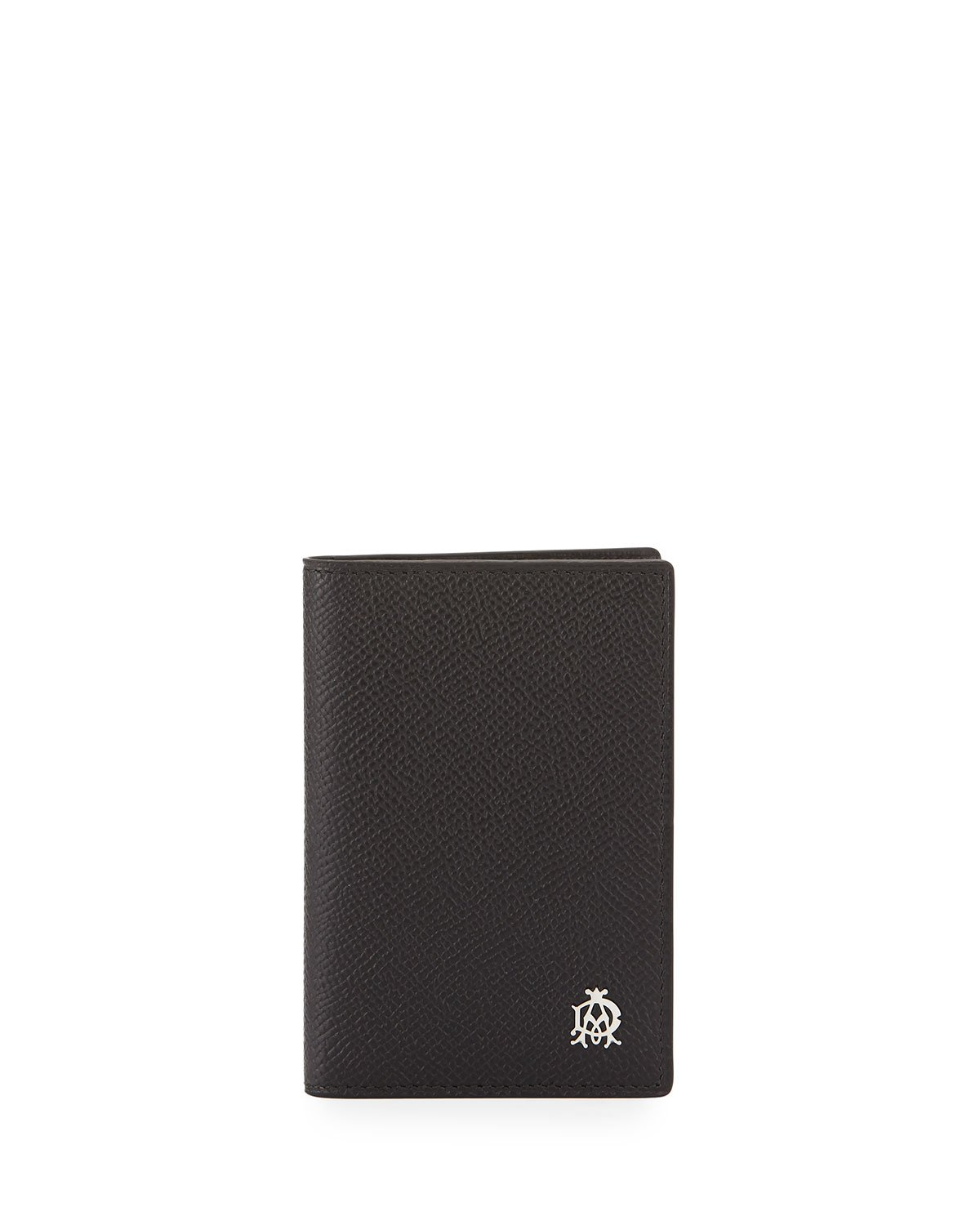 Lyst - Dunhill Bourdon Leather Business Card Case in Black for Men
