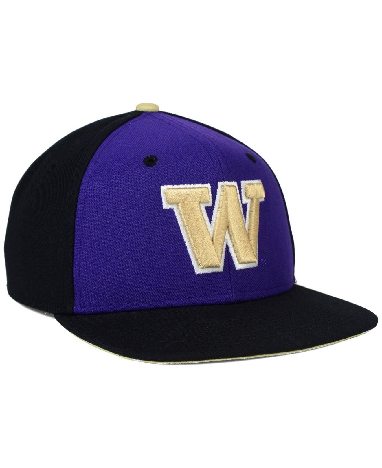 online store 6b426 8944d Nike Washington Huskies Pro Verbiage Snapback Cap in Purple for Men ...