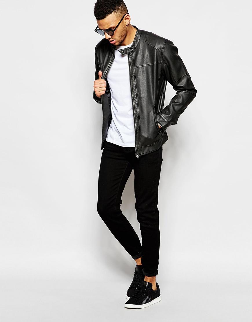 Leather jacket jack and jones - Gallery