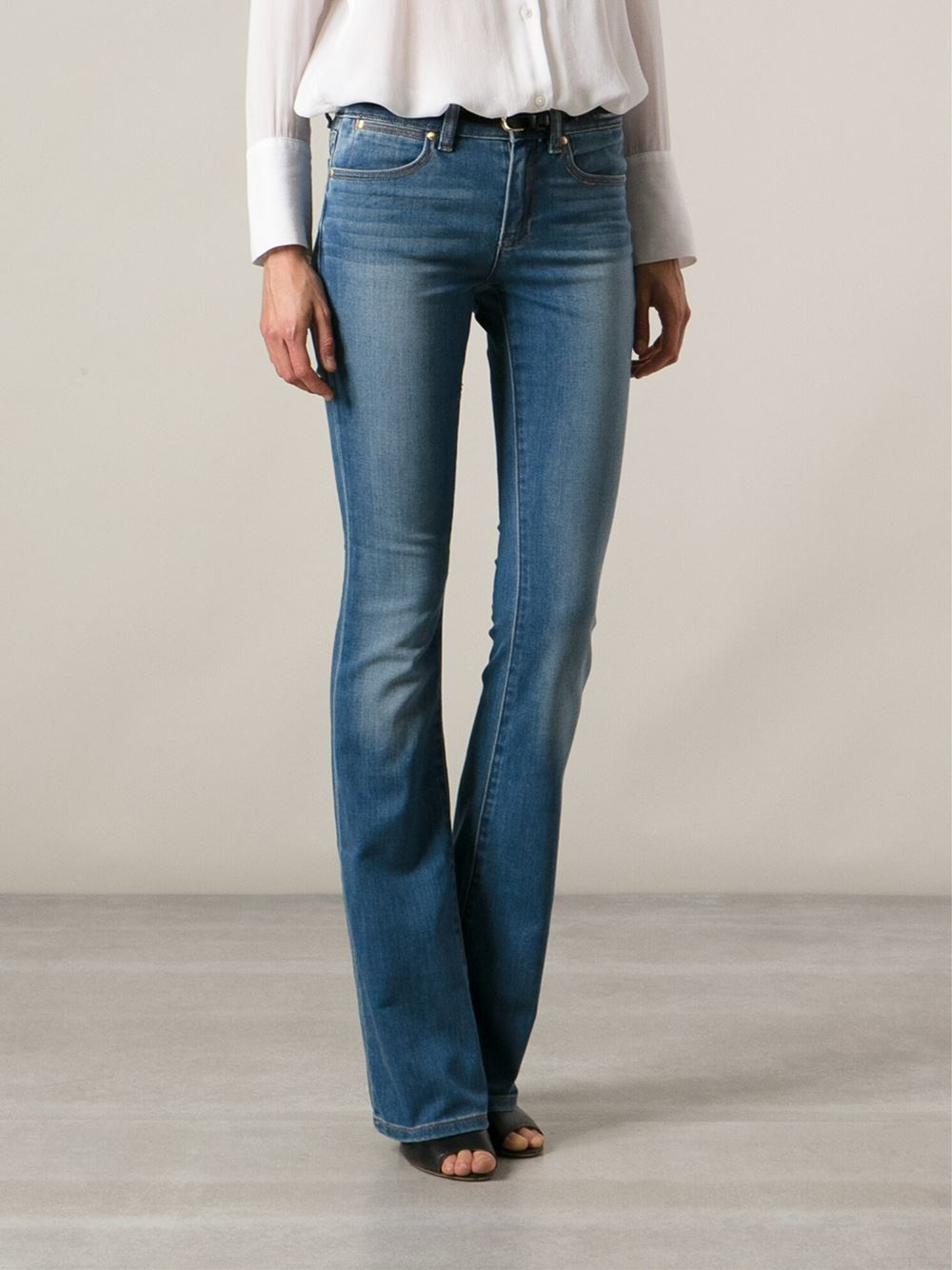 michael michael kors bootcut jeans in blue lyst. Black Bedroom Furniture Sets. Home Design Ideas
