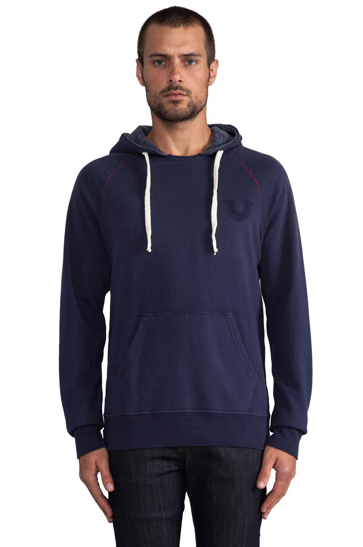 true religion branded hoodie in navy in blue for men lyst. Black Bedroom Furniture Sets. Home Design Ideas