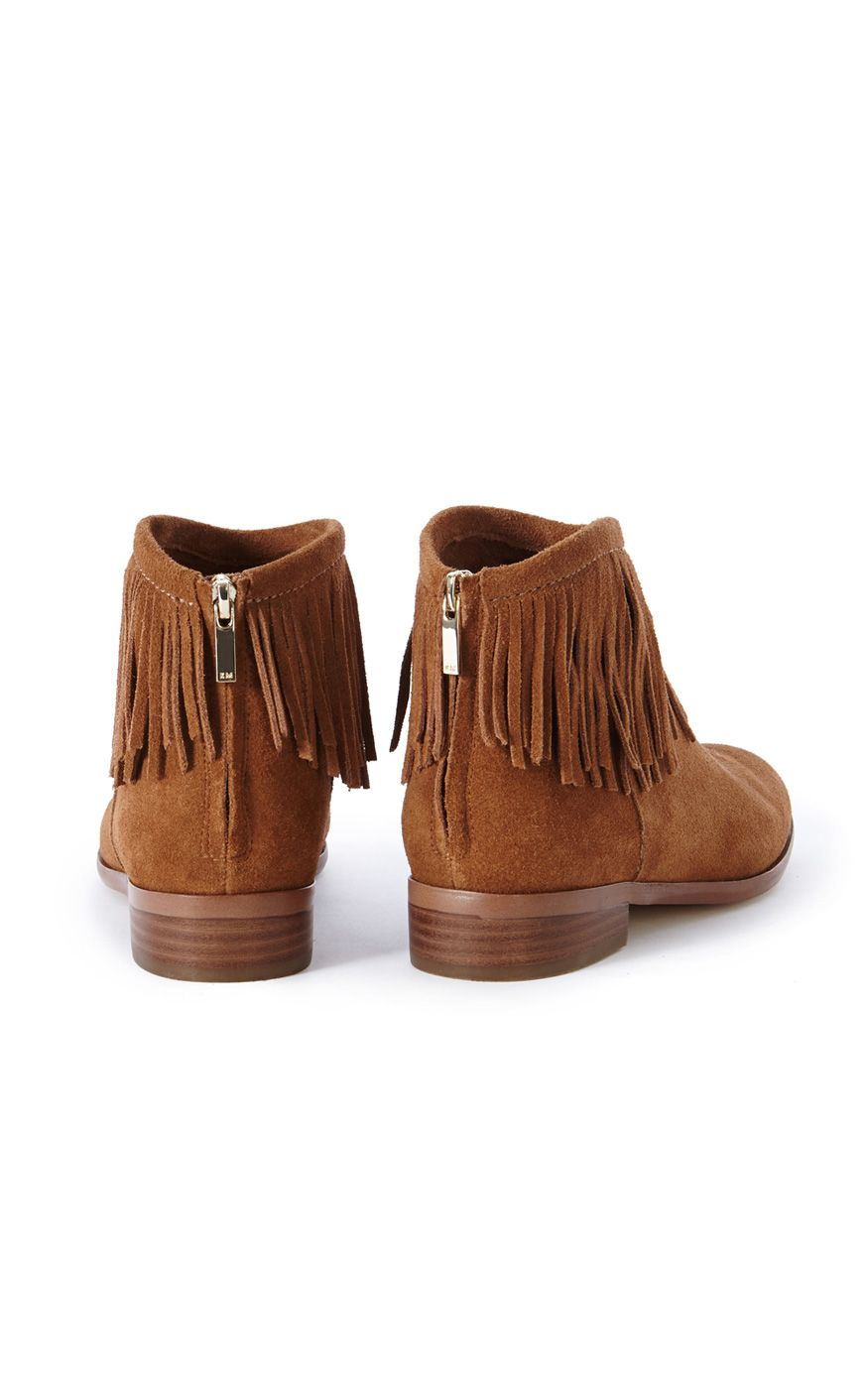 millen flat fringe boot in brown lyst