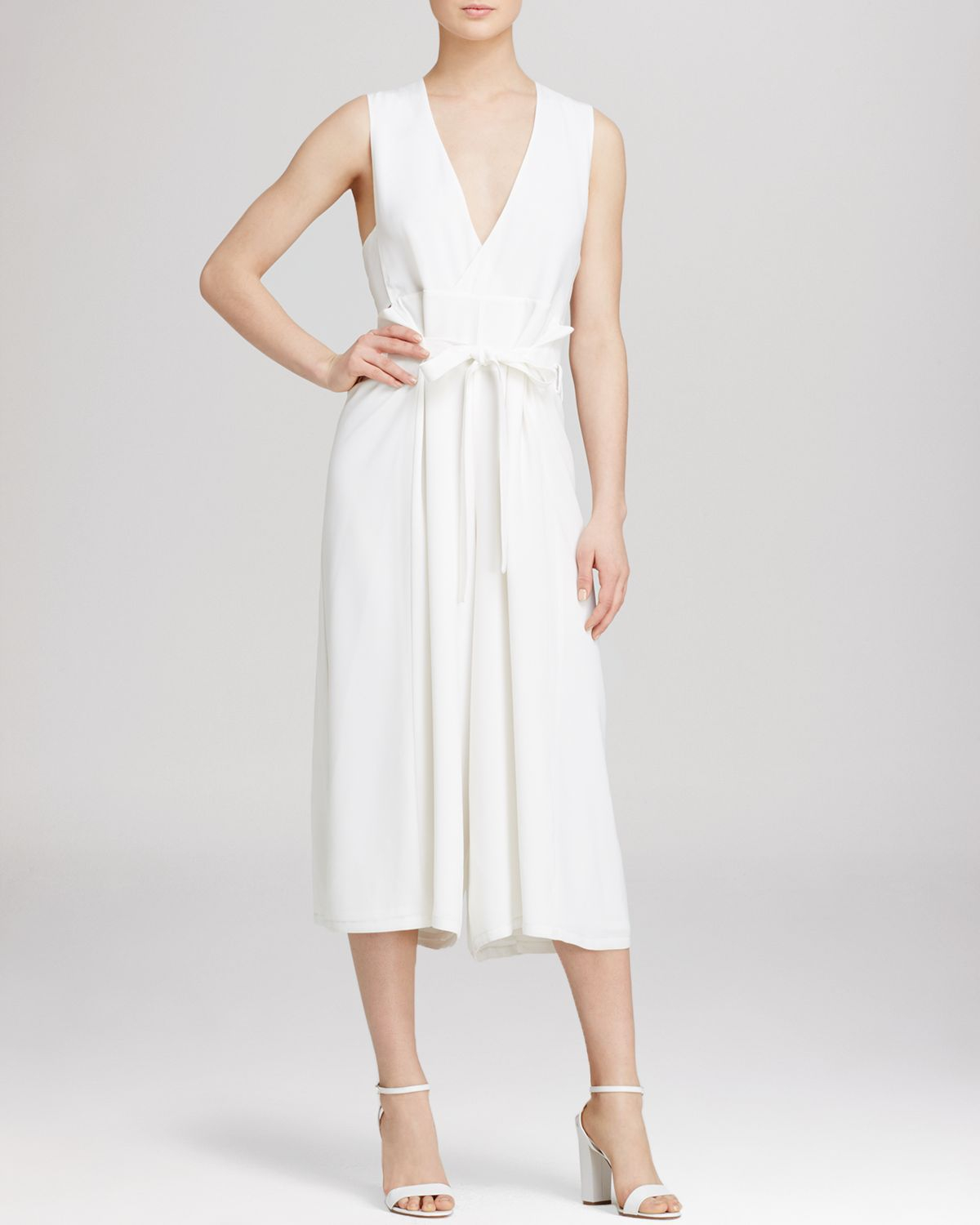 9137ad46770b Lyst - Whistles Honu Wrap Front Jumpsuit - Bloomingdale S Exclusive ...