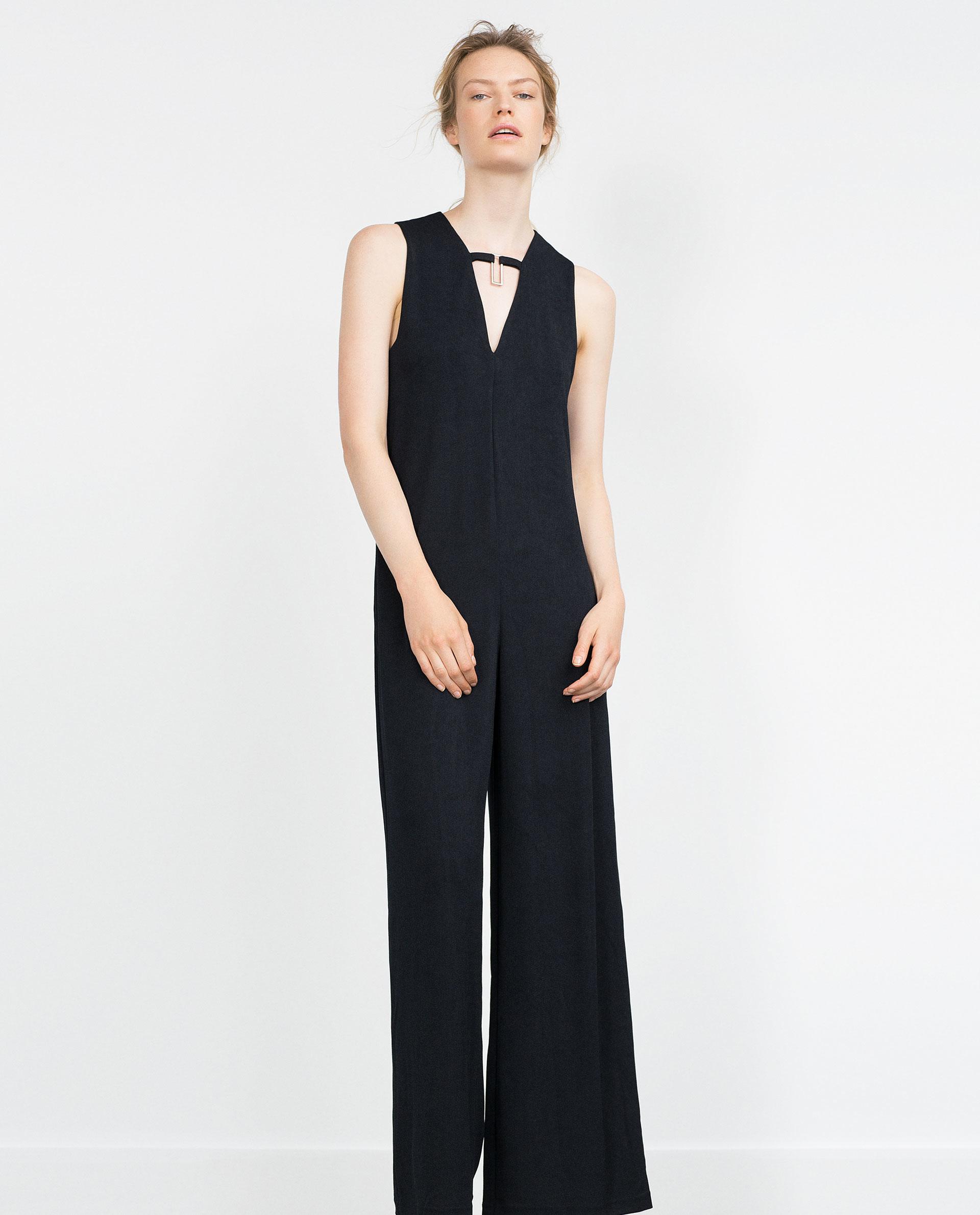 Creative Zara Strapless Jumpsuit In Black  Lyst