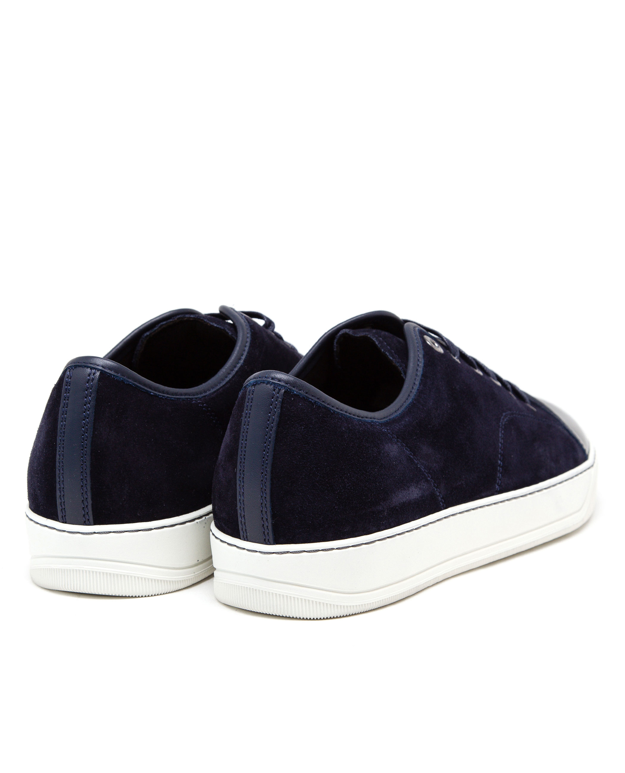 d68bf03232c4 Lyst - Lanvin Suede And Patent Leather Sneakers in Blue for Men