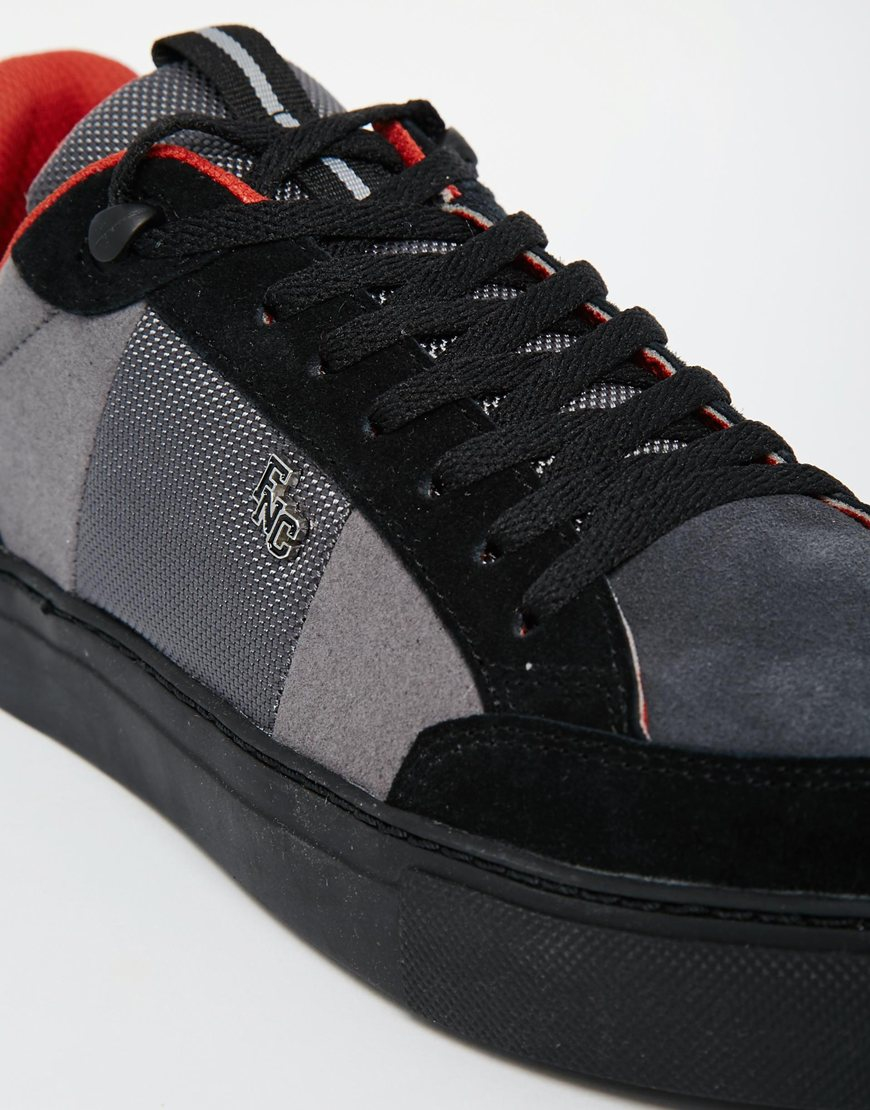 Fish n chips trainers in black for men lyst for Fish and chips shoes