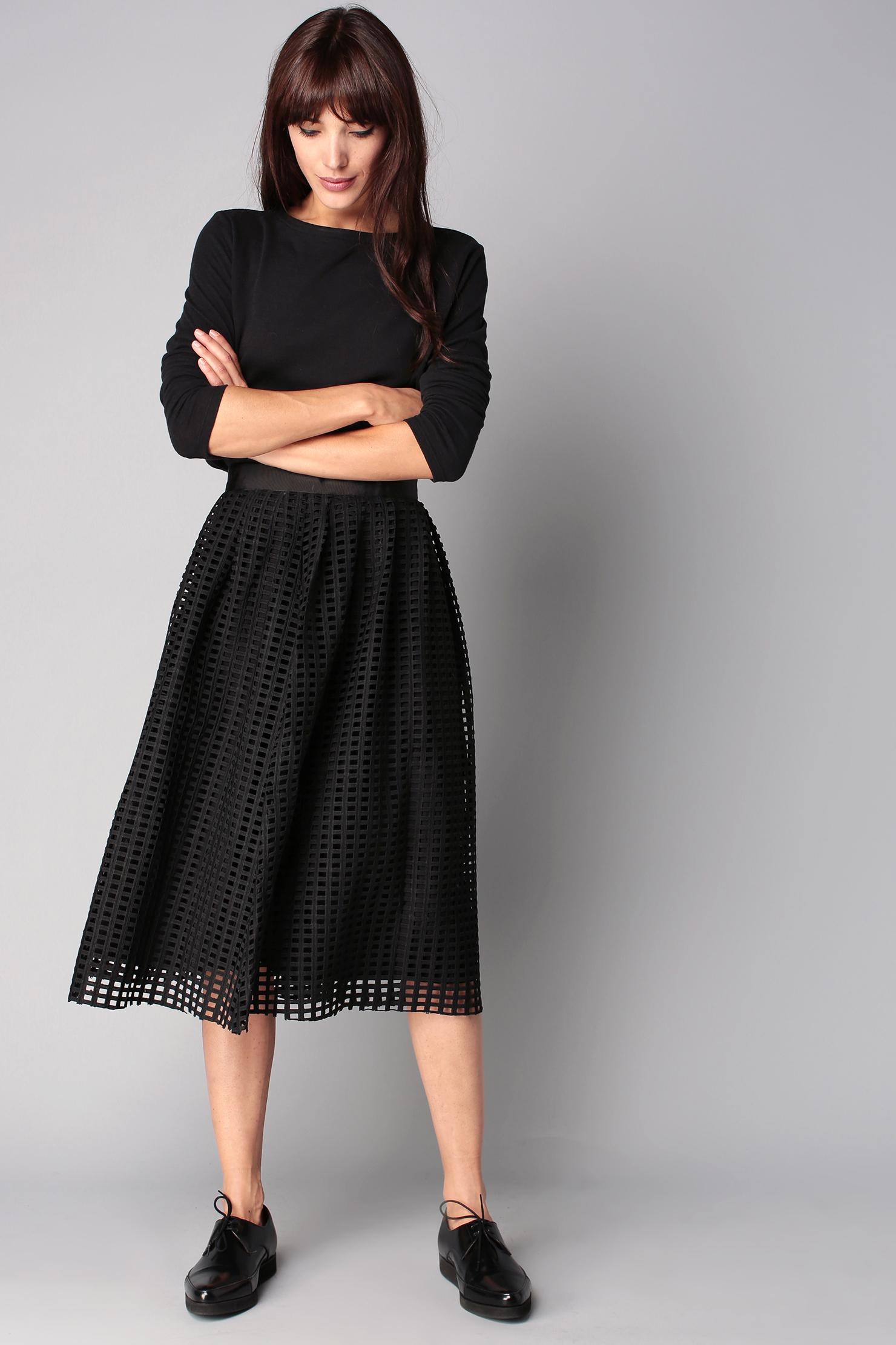 suncoo midi skirt maxi skirt in black lyst