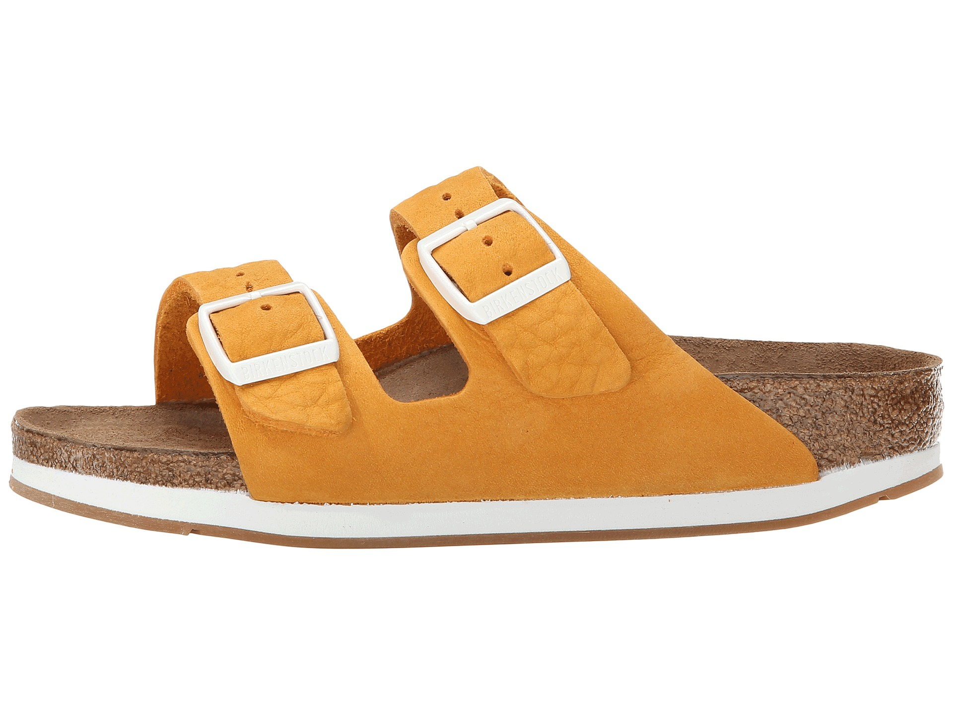 f99eed8d1bfd Lyst - Birkenstock Arizona Soft Footbed - Leather (unisex) in Orange