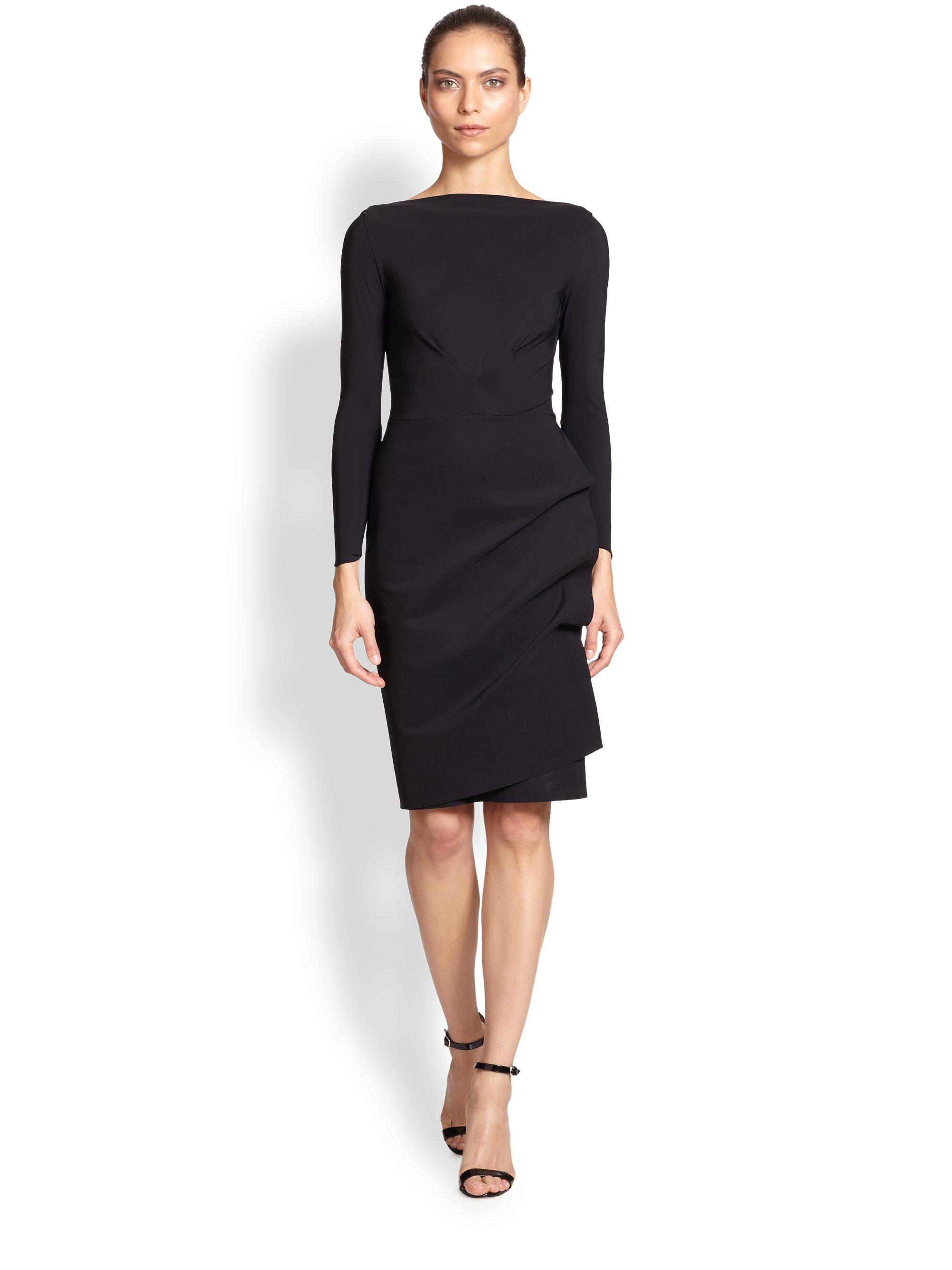 d3f7cf4763c2 La Petite Robe Di Chiara Boni Long-sleeve Cocktail Dress in Black - Lyst