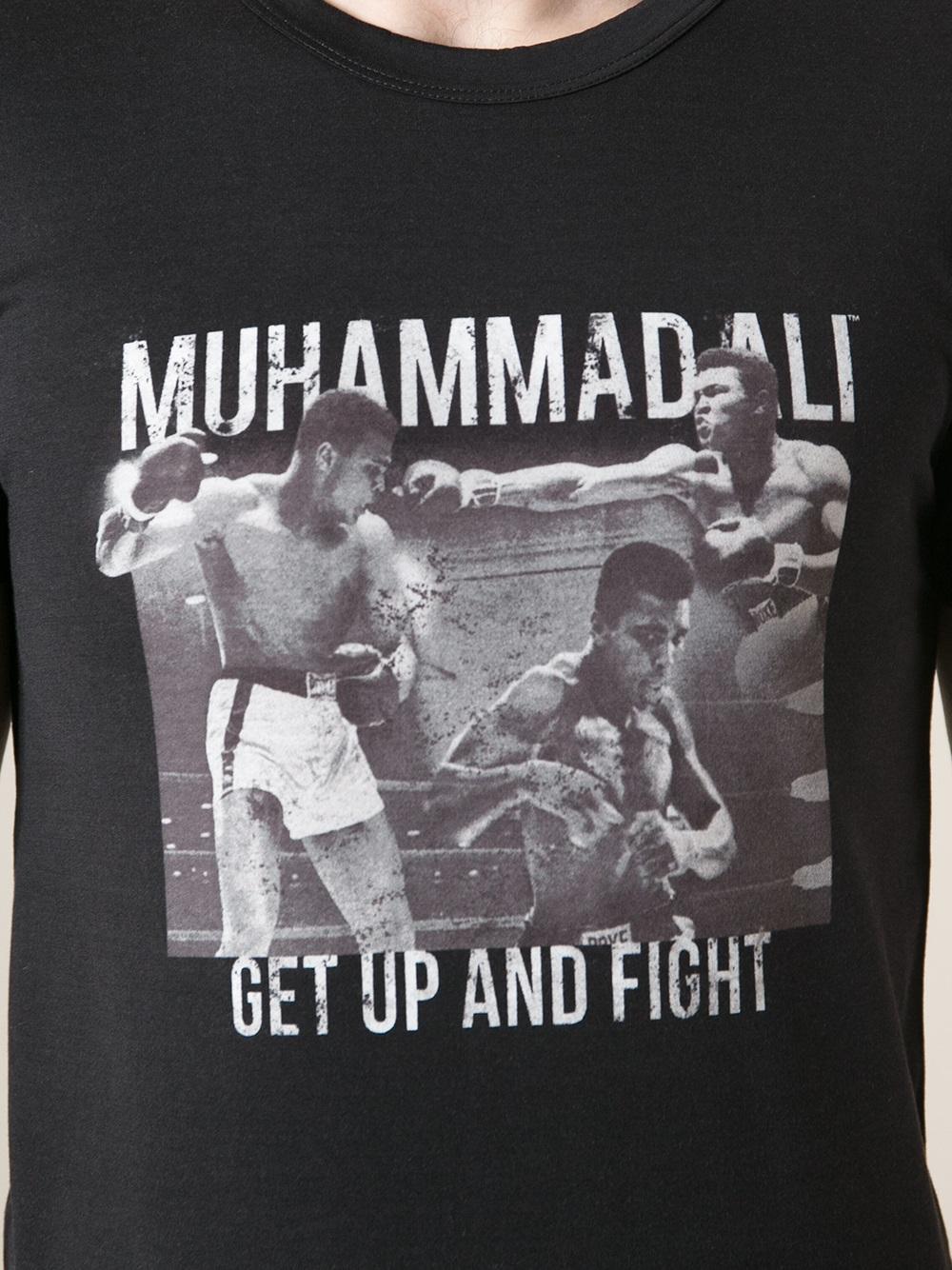 dolce  u0026 gabbana muhammad ali tshirt in black for men