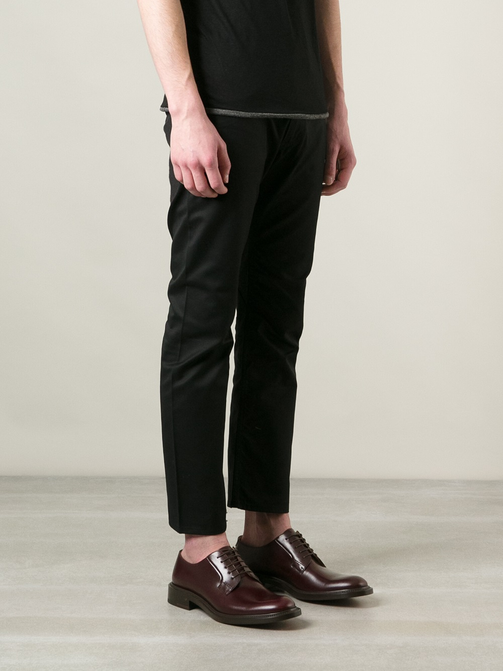 Lyst Junya Watanabe Mens Cropped Pants In Black For Men