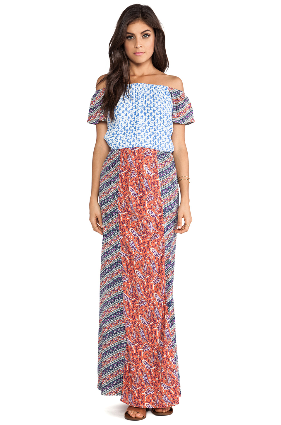 Suboo geometric print maxi dress
