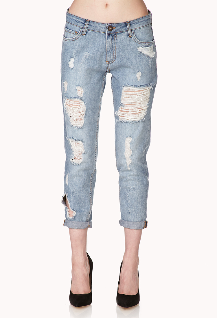 Ripped boyfriend jeans from this line are must-haves that will give you an array of new options when you're creating your next head-turning casual outfit. True to tradition, these impressive jeans are durable and made to last.