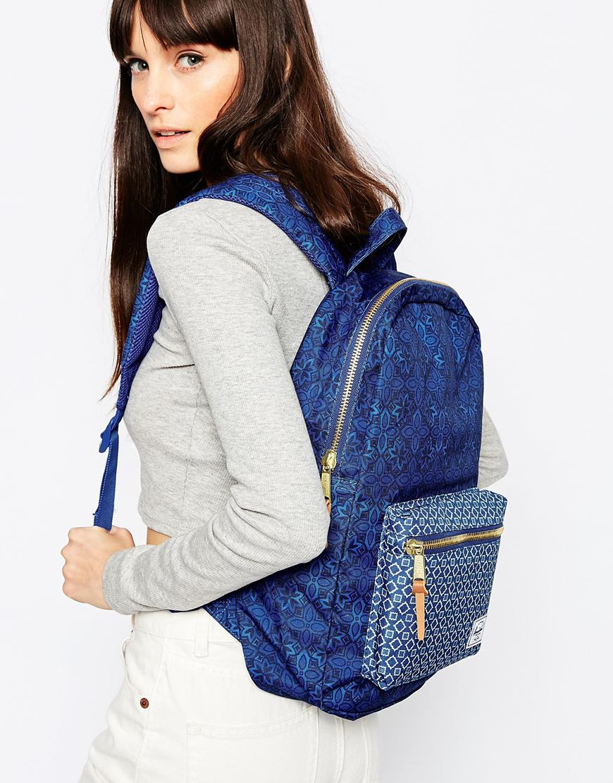 Lyst - Herschel Supply Co. Settlement Backpack In Tile Print in Blue ca807d1d9f741