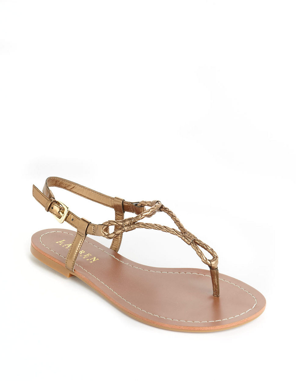 Lauren Ralph Lauren Väskor : Lauren by ralph alexa braided flip flop sandals in