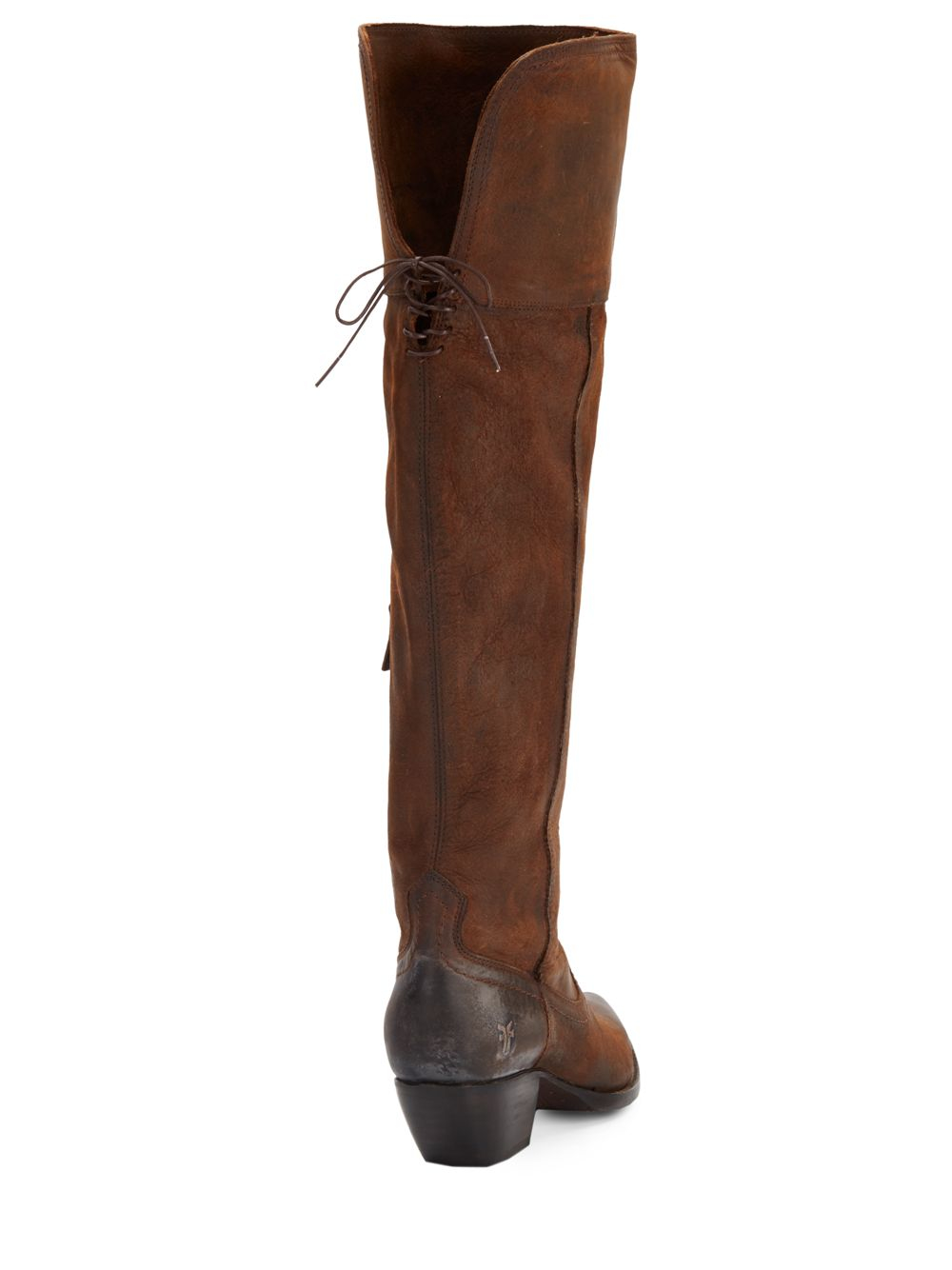Frye Sacha Leather Over-the-knee Boots in Brown | Lyst