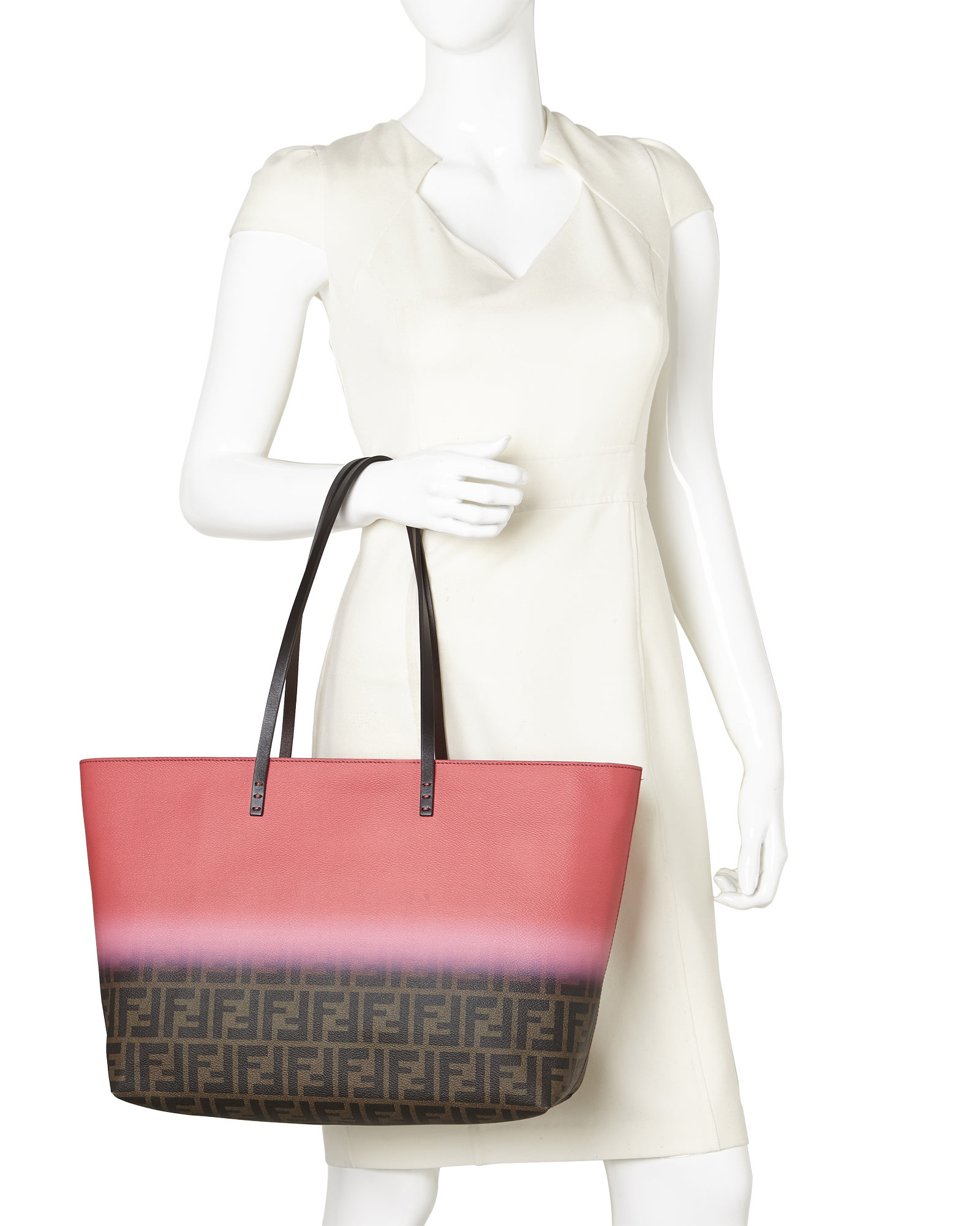 538bc3fb06e ... germany lyst fendi zucca ombr large roll tote in red c4009 5ebbc