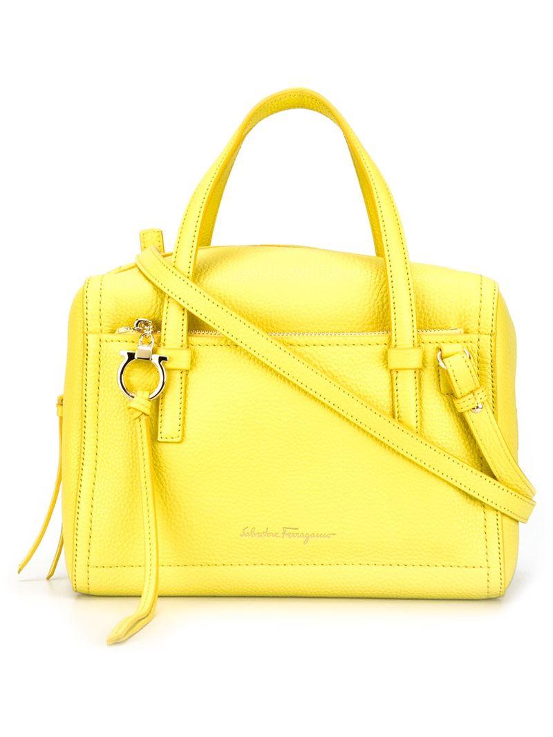a47a42e257 Lyst - Ferragamo  addy  Crossbody Bag in Yellow