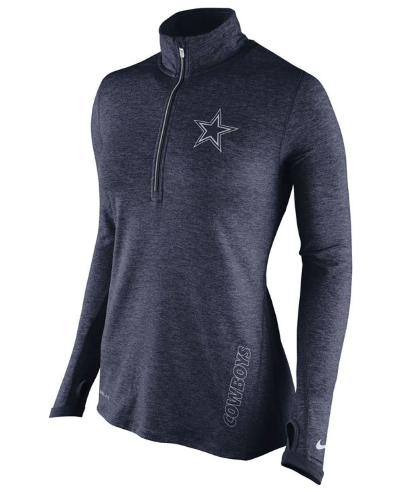 7cb032cd653 Nike Women's Dallas Cowboys Stadium Element Quarter-zip Pullover in ...