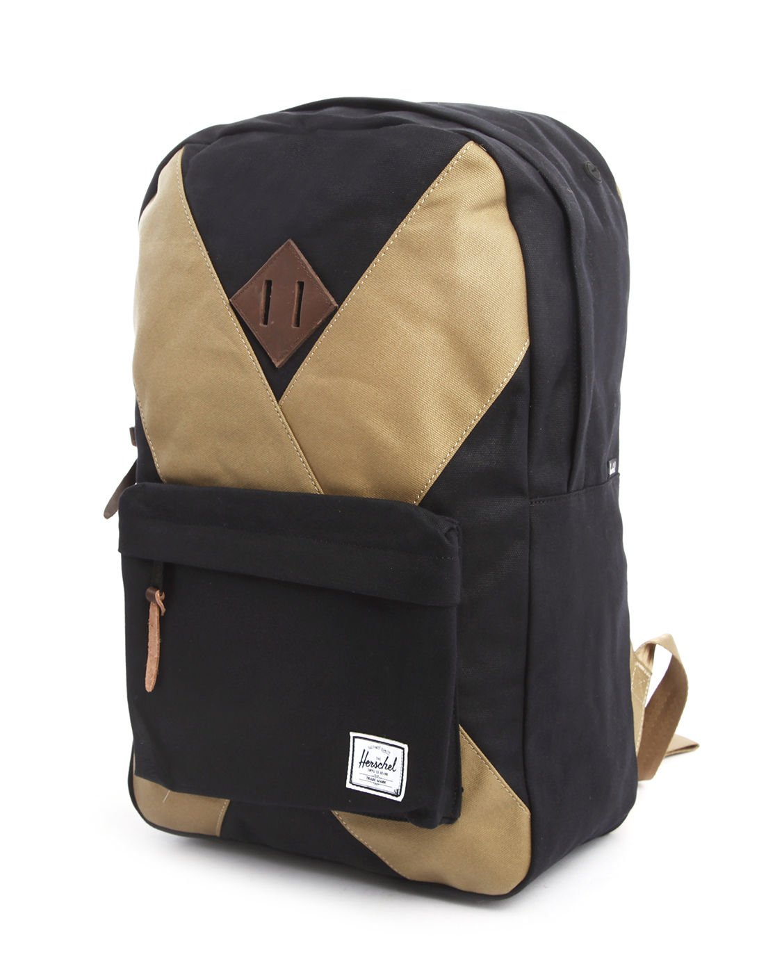 herschel supply co heritage internet exclusive black and beige backpack in black for men lyst. Black Bedroom Furniture Sets. Home Design Ideas
