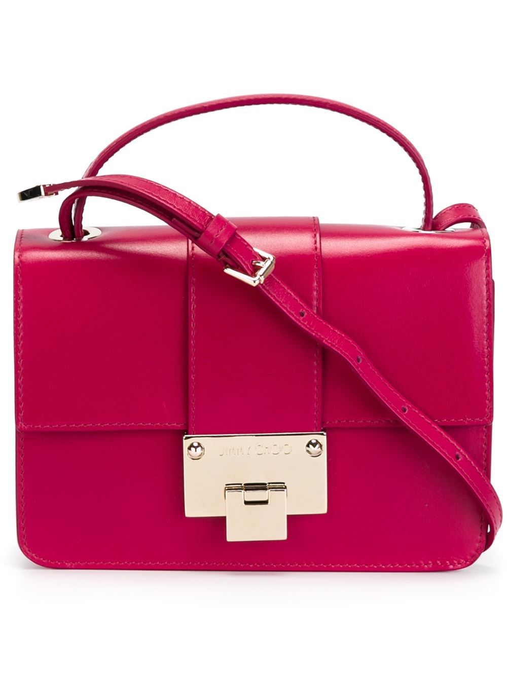 291f3c04bbf Jimmy Choo 'Rebel' Cross Body Bag in Pink - Lyst
