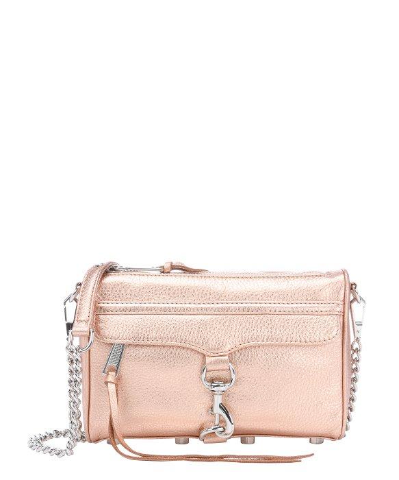 Rebecca minkoff Rose Gold Leather 'Mini Mac' Convertible Shoulder ...