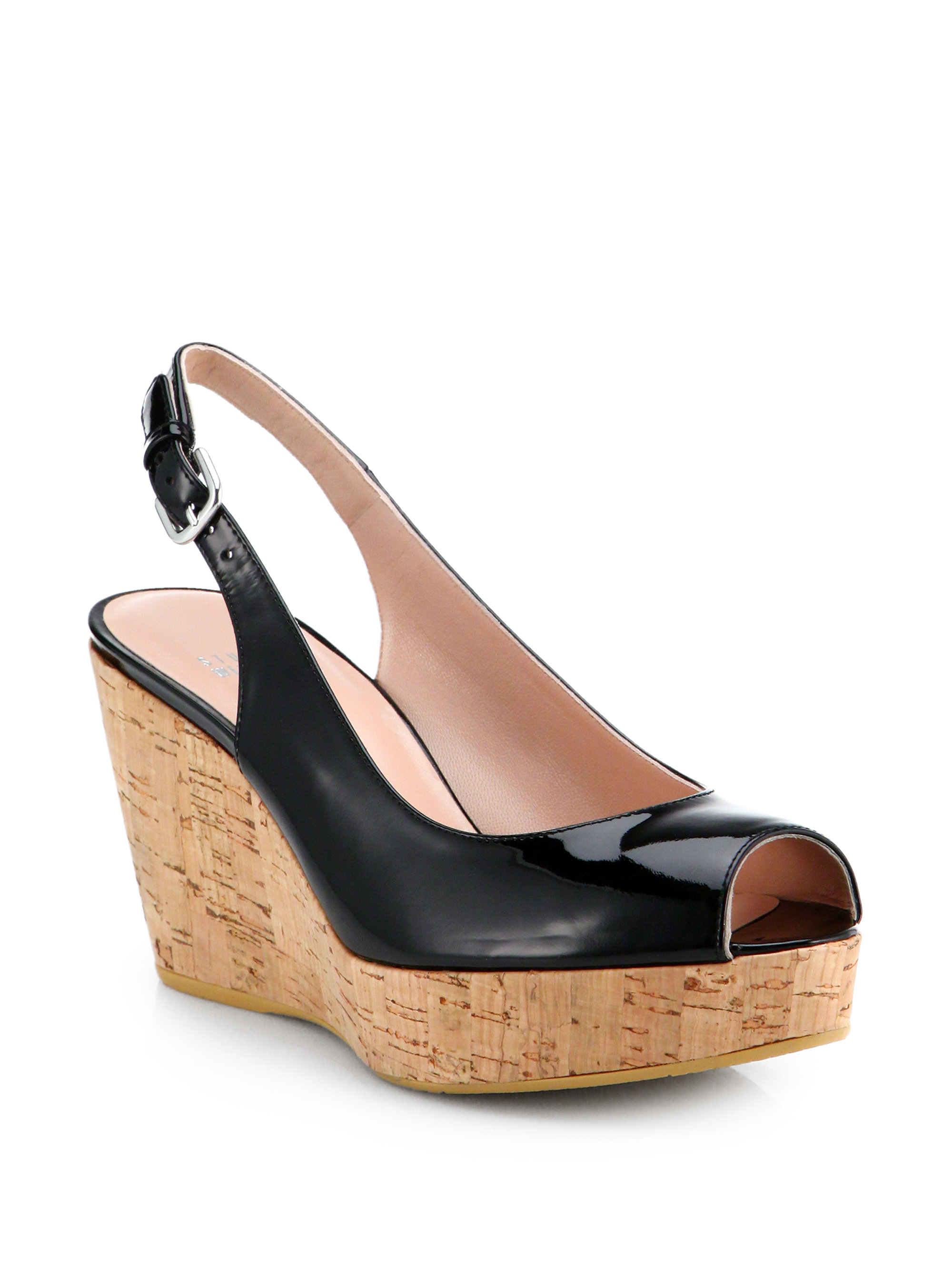 Stuart Weitzman Patent Wedge Sandals outlet shop free shipping factory outlet low shipping fee cheap online cheap lowest price fashion Style cheap price ZzPpKL2z